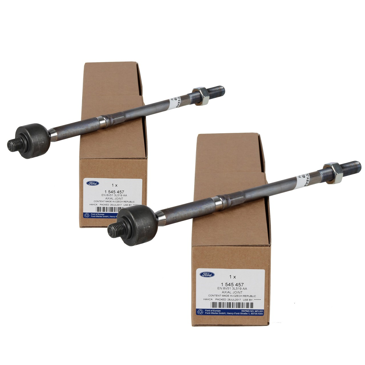 2x ORIGINAL Ford Spurstange Axialgelenk B-MAX ECOSPORT FIESTA VI vorne 1545457