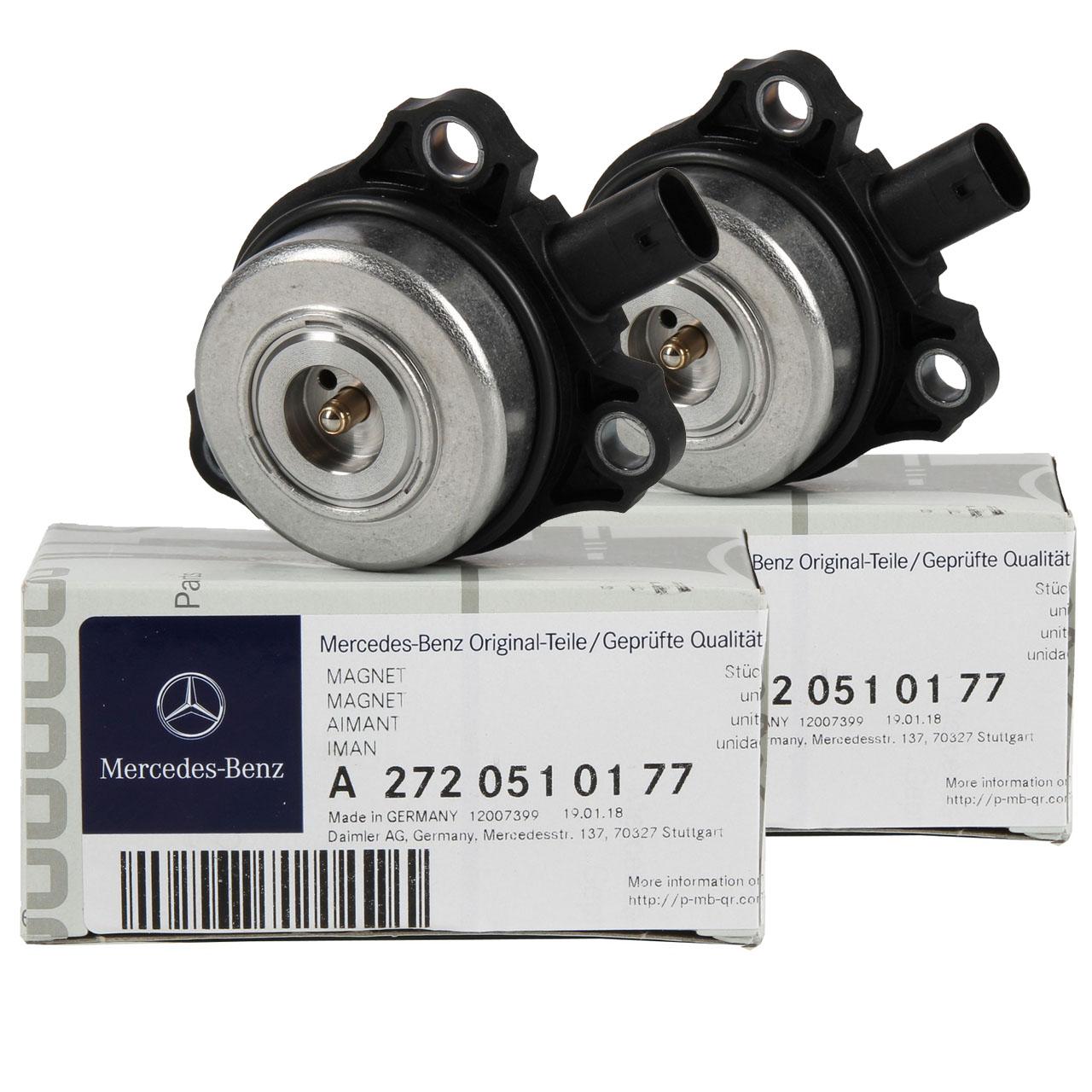 2x ORIGINAL Mercedes-Benz Zentralmagnet Nockenwellenversteller OM272 2720510177
