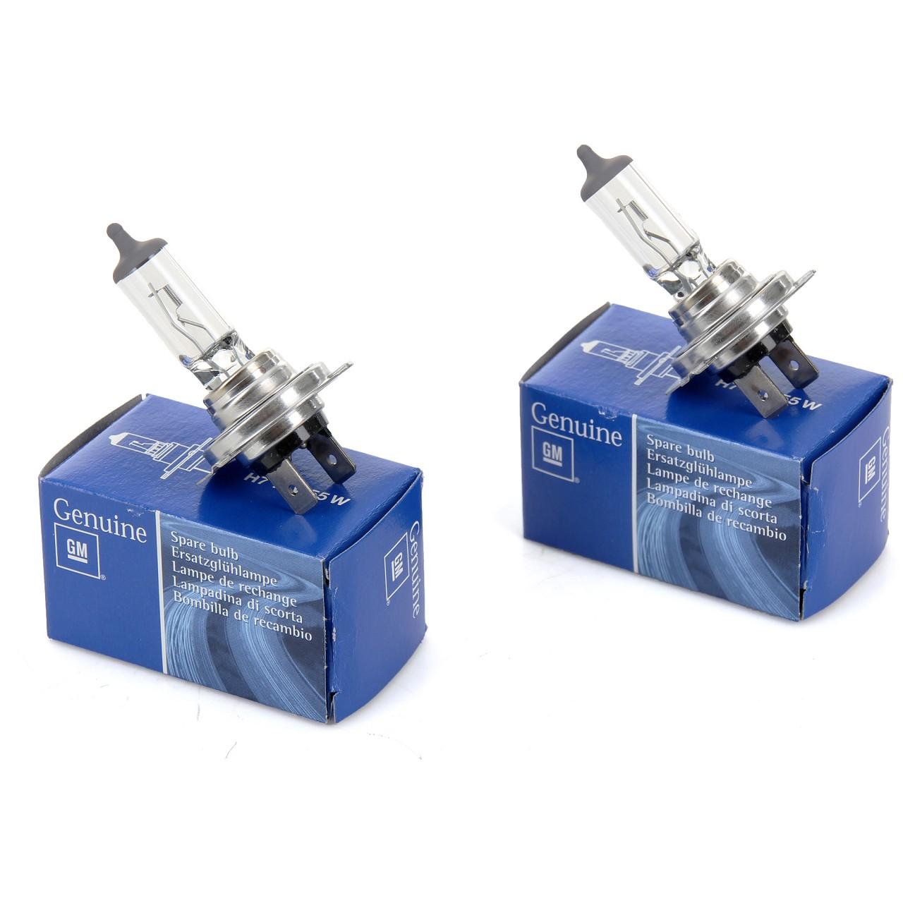 2x ORIGINAL GM / Opel Halogenlampe H7 12V 55W PX26D 93190461