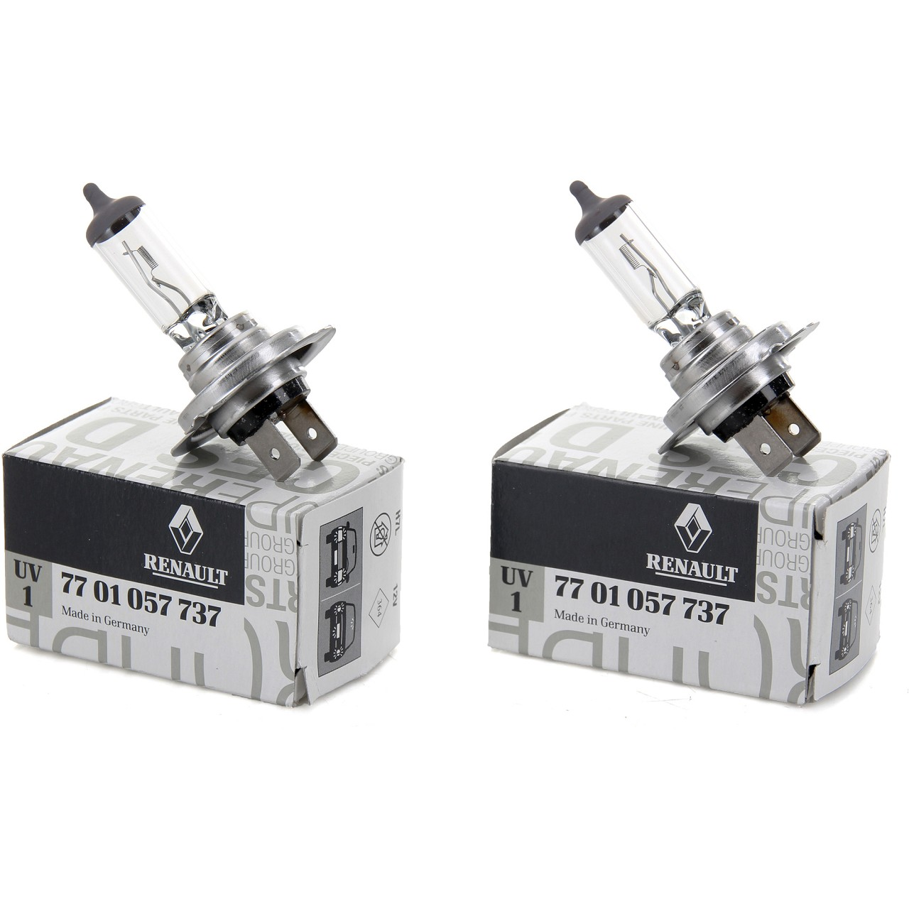 2x ORIGINAL Renault Halogenlampe Glühlampe H7 12V 55W PX26d 7701057737