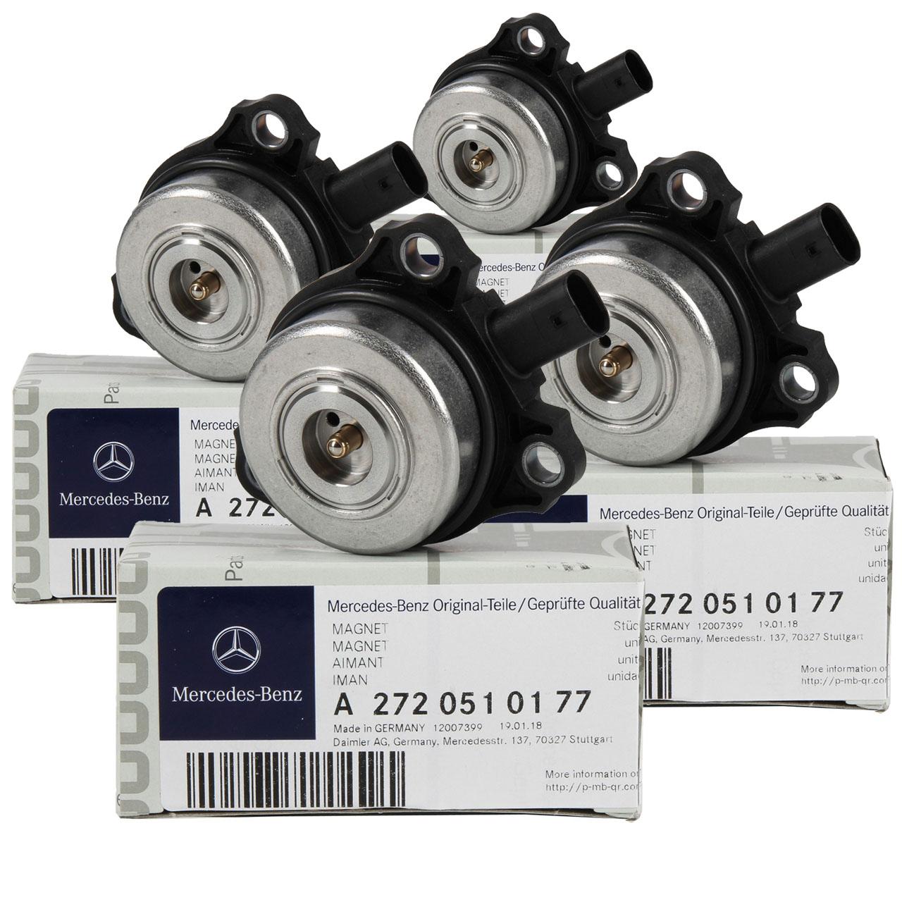 4x ORIGINAL Mercedes-Benz Zentralmagnet Nockenwellenversteller OM272 2720510177
