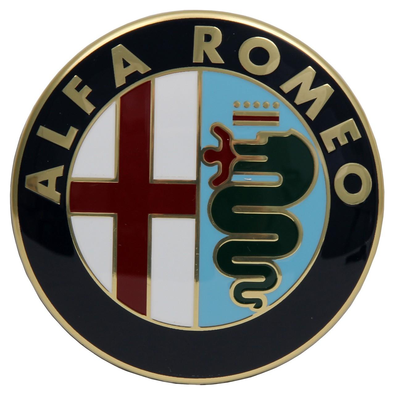 ORIGINAL Alfa Romeo Emblem Logo Plakette Heckklappe 60777672 für 155 164 166