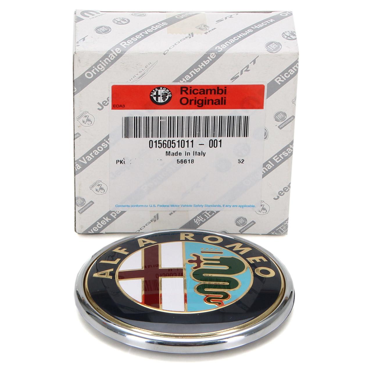 ORIGINAL Alfa Romeo Emblem Logo Wappen Kühlergrill FACELIFT 166 (936_) 156051011