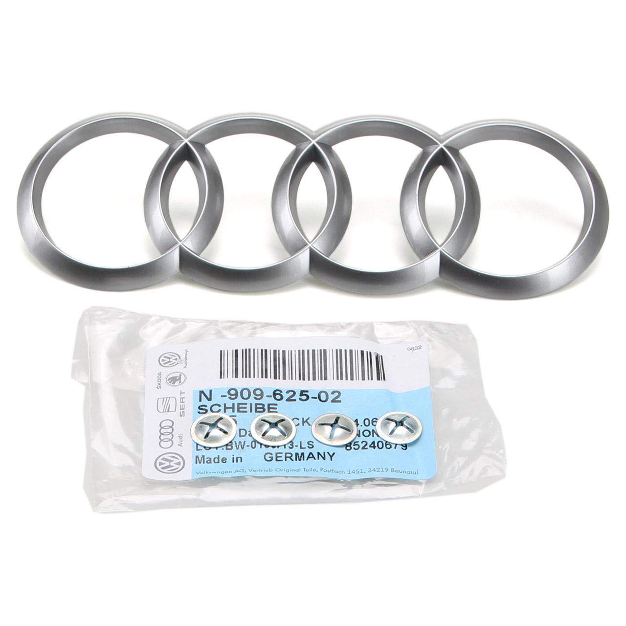 ORIGINAL Audi Ringe Emblem Logo + Befestigung A1 A3 A4 A5 A6 A7 A8 Q3 Q5 Q7