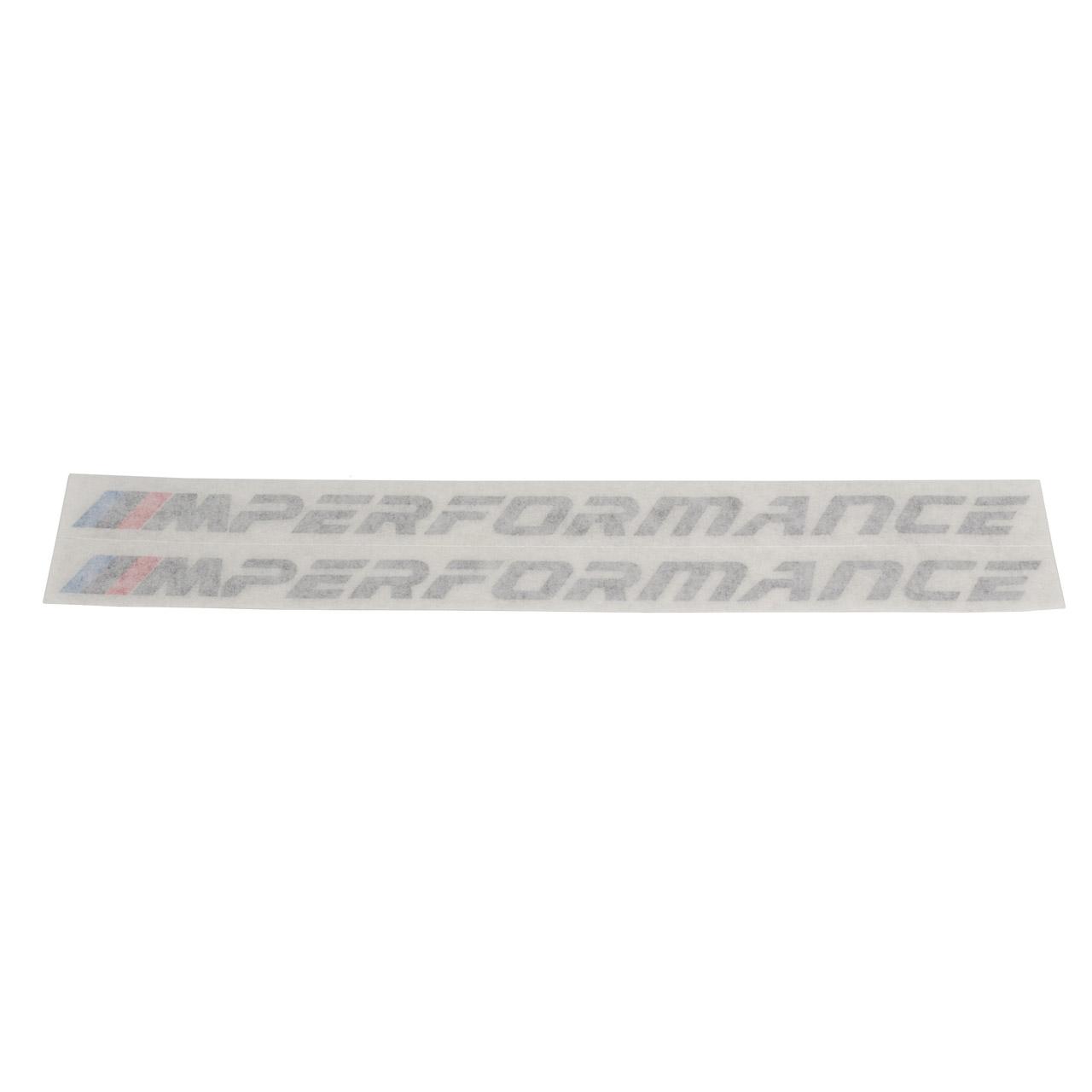 ORIGINAL BMW M Performance Aufkleber Set SILBER Sticker Schriftzug 51142413970