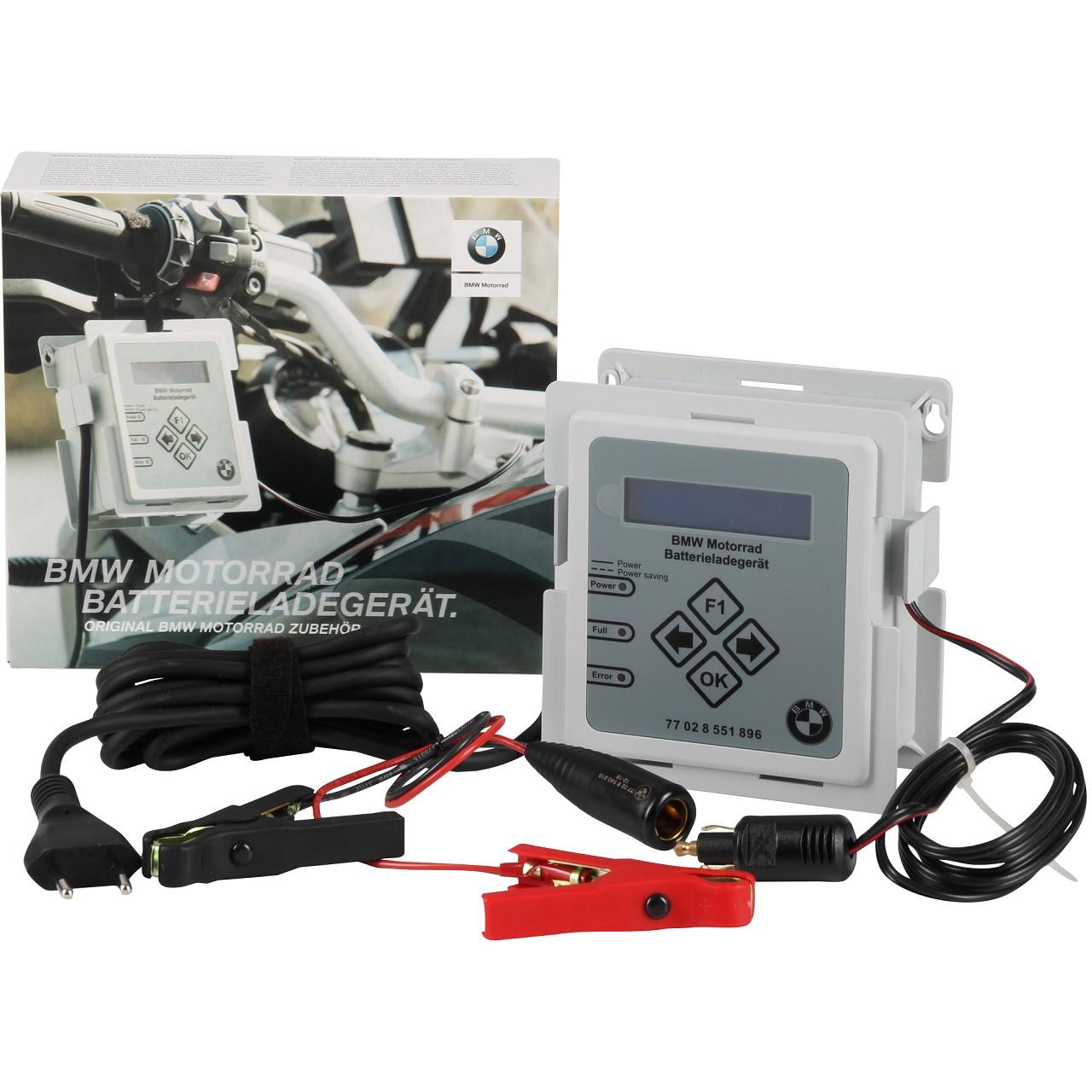 Original BMW Motorrad Batterieladegerät 230V CANBUS mit Adapterkabel 77028551896