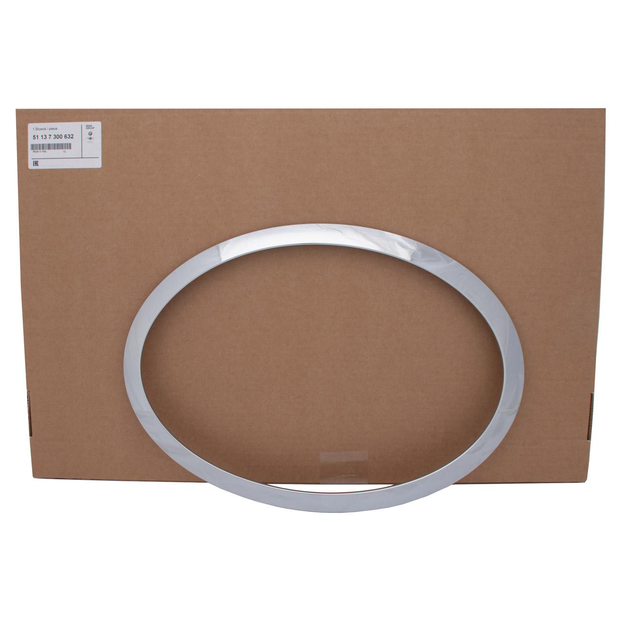 ORIGINAL Mini Zierring Ring Scheinwerfer CHROM F55 F56 F57 rechts 51137300632