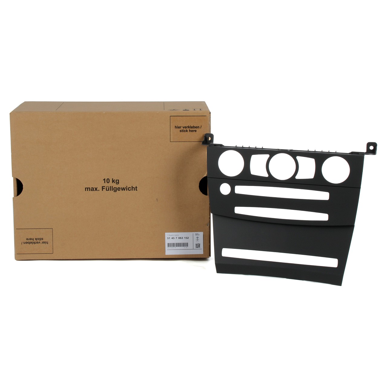 ORIGINAL BMW Blende Navi Instrumententafel MITTE 51457063152 für 5er E60 E61