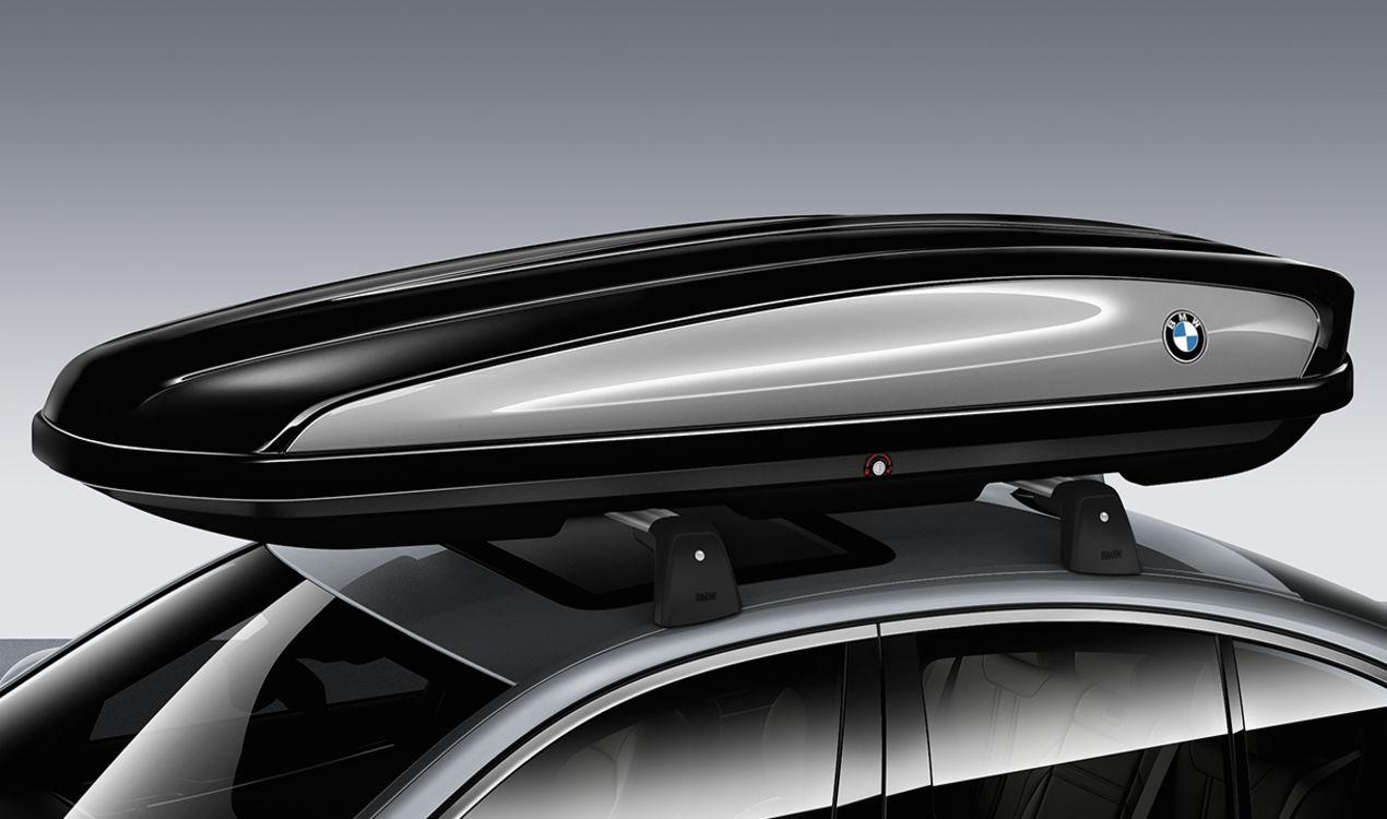 ORIGINAL BMW Dachkoffer Dachbox SCHWARZ / TITANSILBER 520 Liter 82732406459
