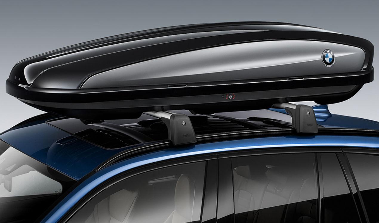 ORIGINAL BMW Dachkoffer Dachbox SCHWARZ / TITANSILBER 420 Liter 82732406460