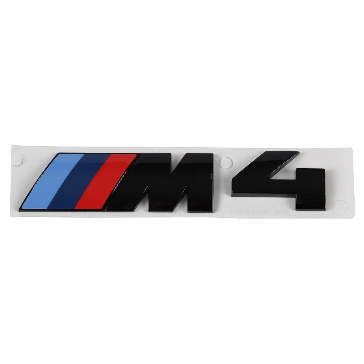ORIGINAL BMW M4 Emblem Schriftzug Heckklappe SCHWARZ 51148068579 für F32 F82
