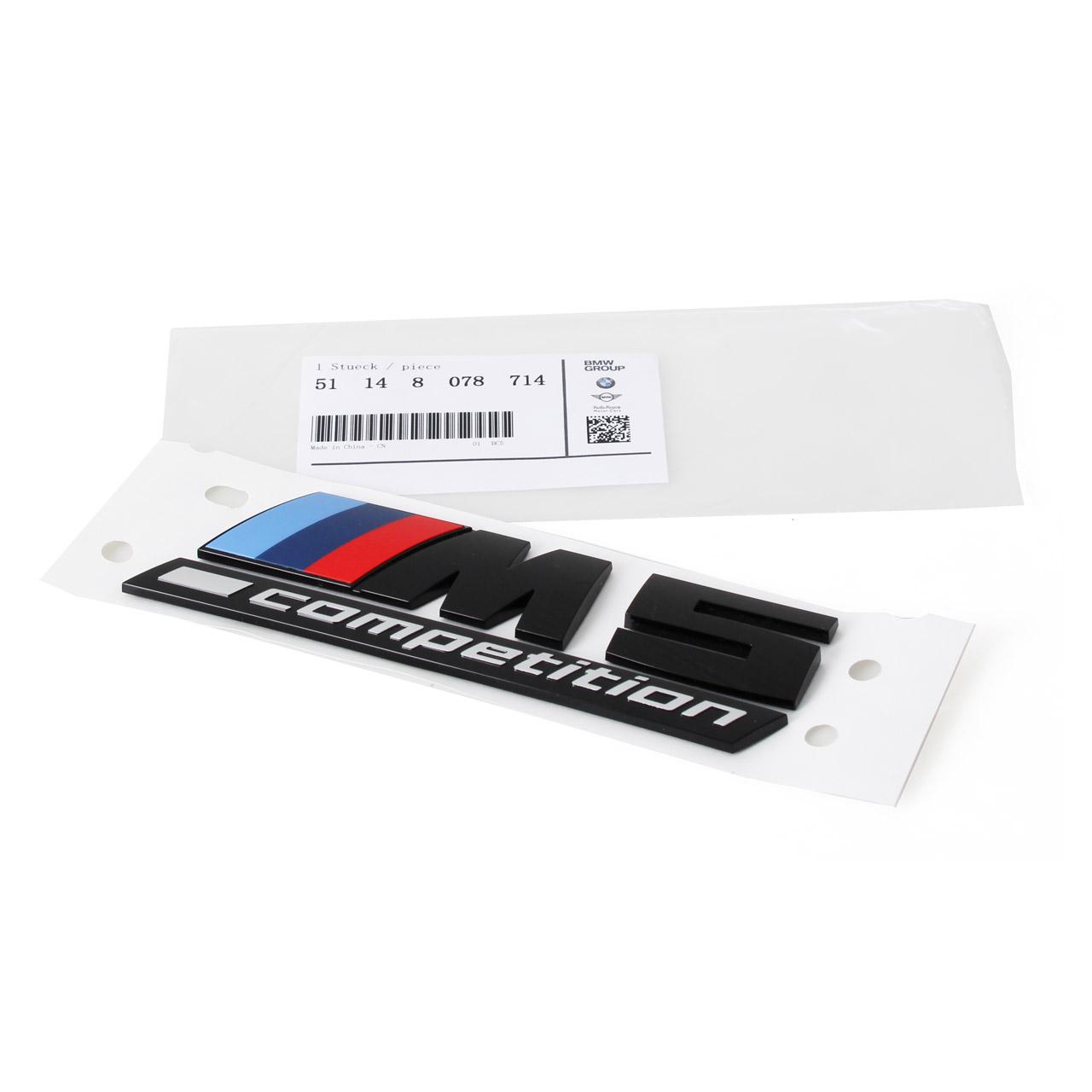 ORIGINAL BMW Schriftzug M5 COMPETITION selbstklebend M5 F90 hinten 51148078714