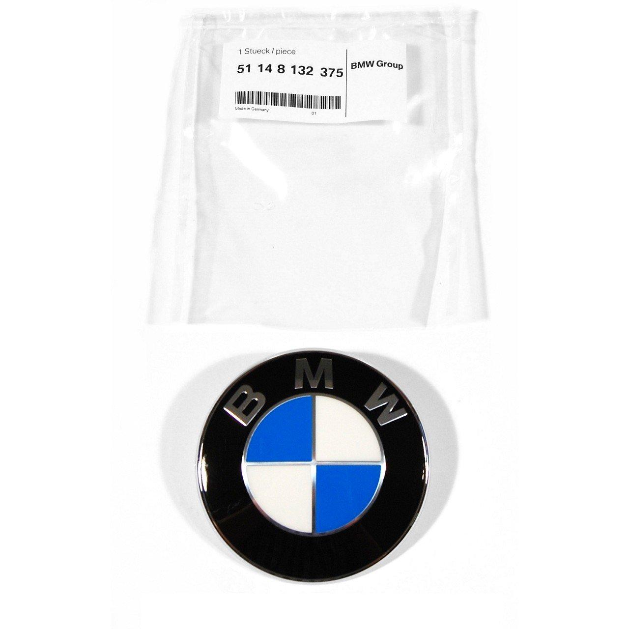 ORIGINAL BMW Emblem Plakette Logo Motorhaube Heckklappe Ø 82 mm 51148132375