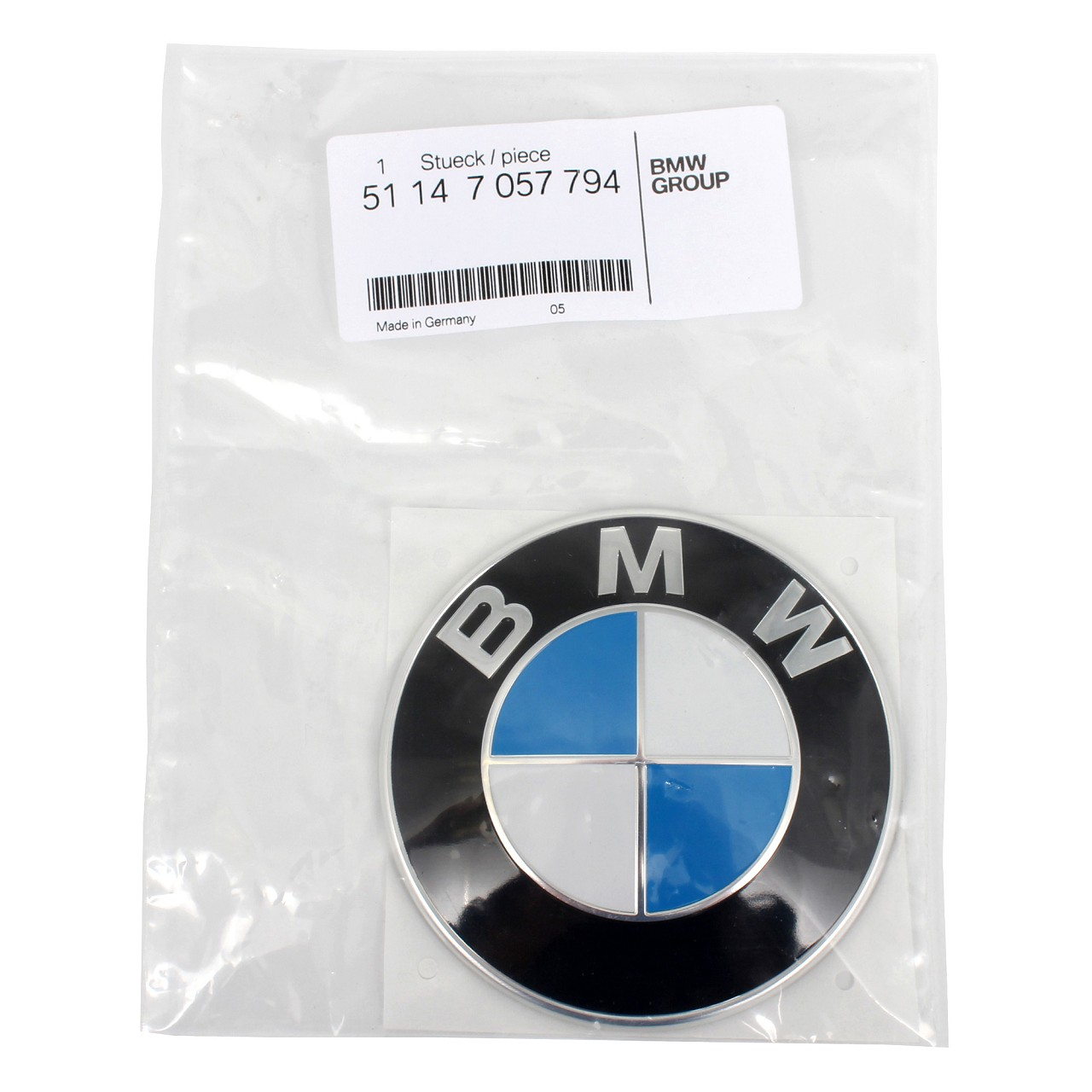 ORIGINAL BMW Emblem Plakette Logo Motorhaube Heckklappe Ø 82 mm 51147057794