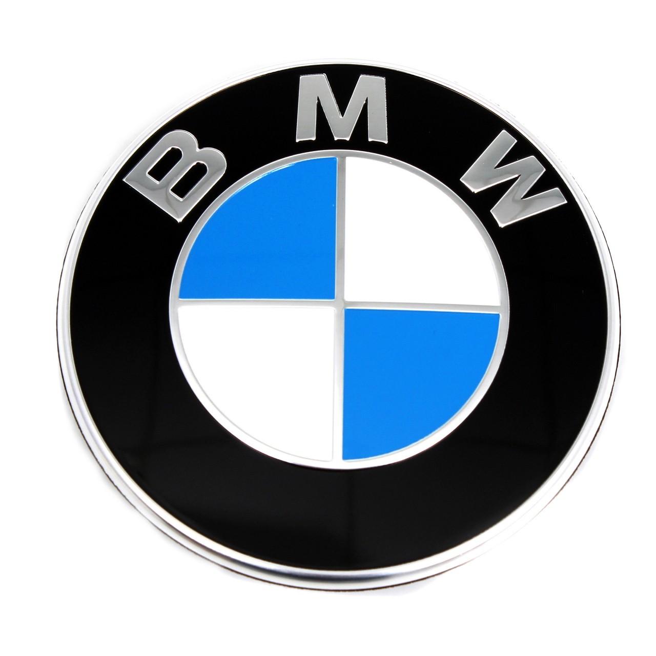 ORIGINAL BMW Emblem Plakette Zeichen Logo 74mm Heckklappe hinten 51148219237