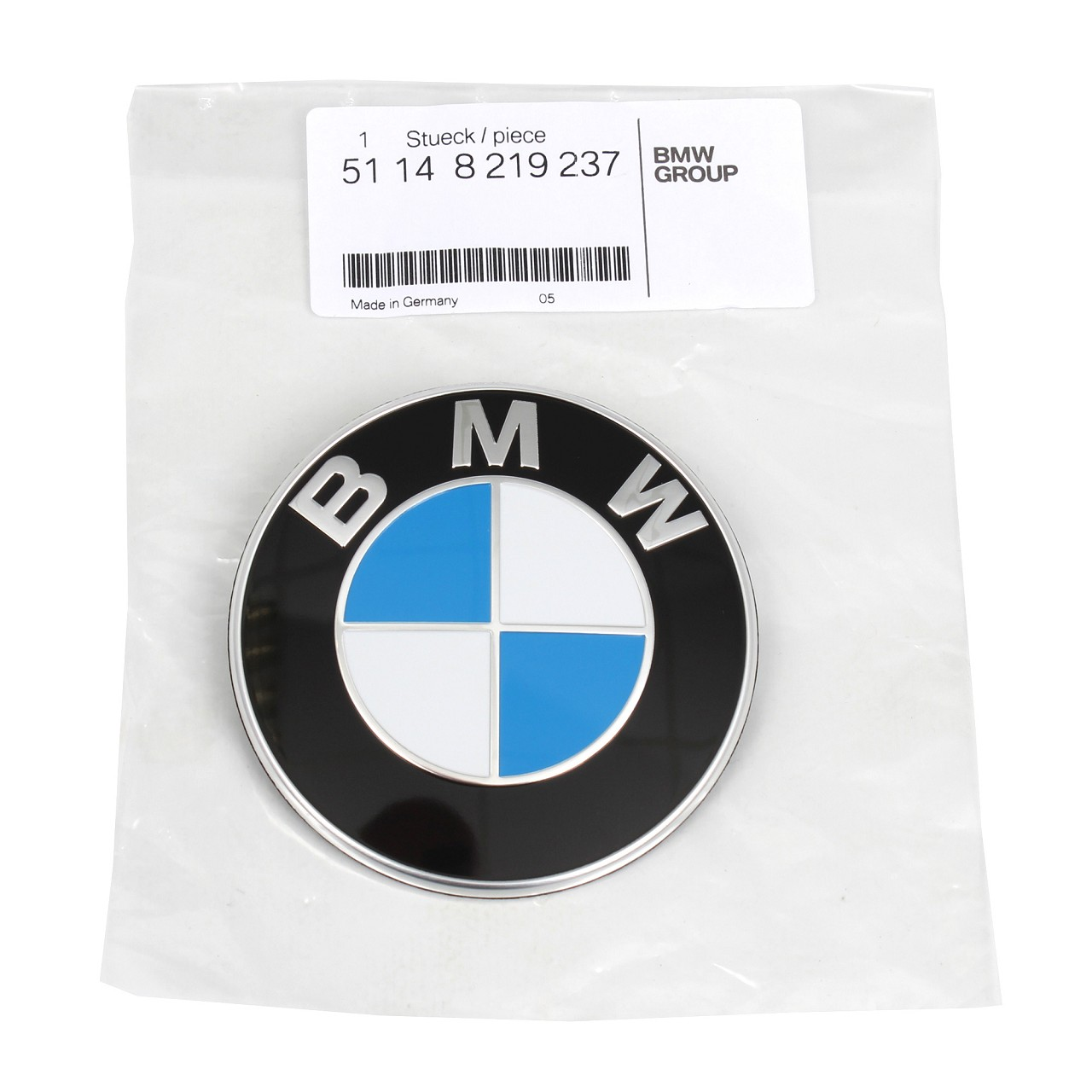 ORIGINAL BMW Emblem Plakette Zeichen Logo Heckklappe hinten Ø 74 mm 51148219237