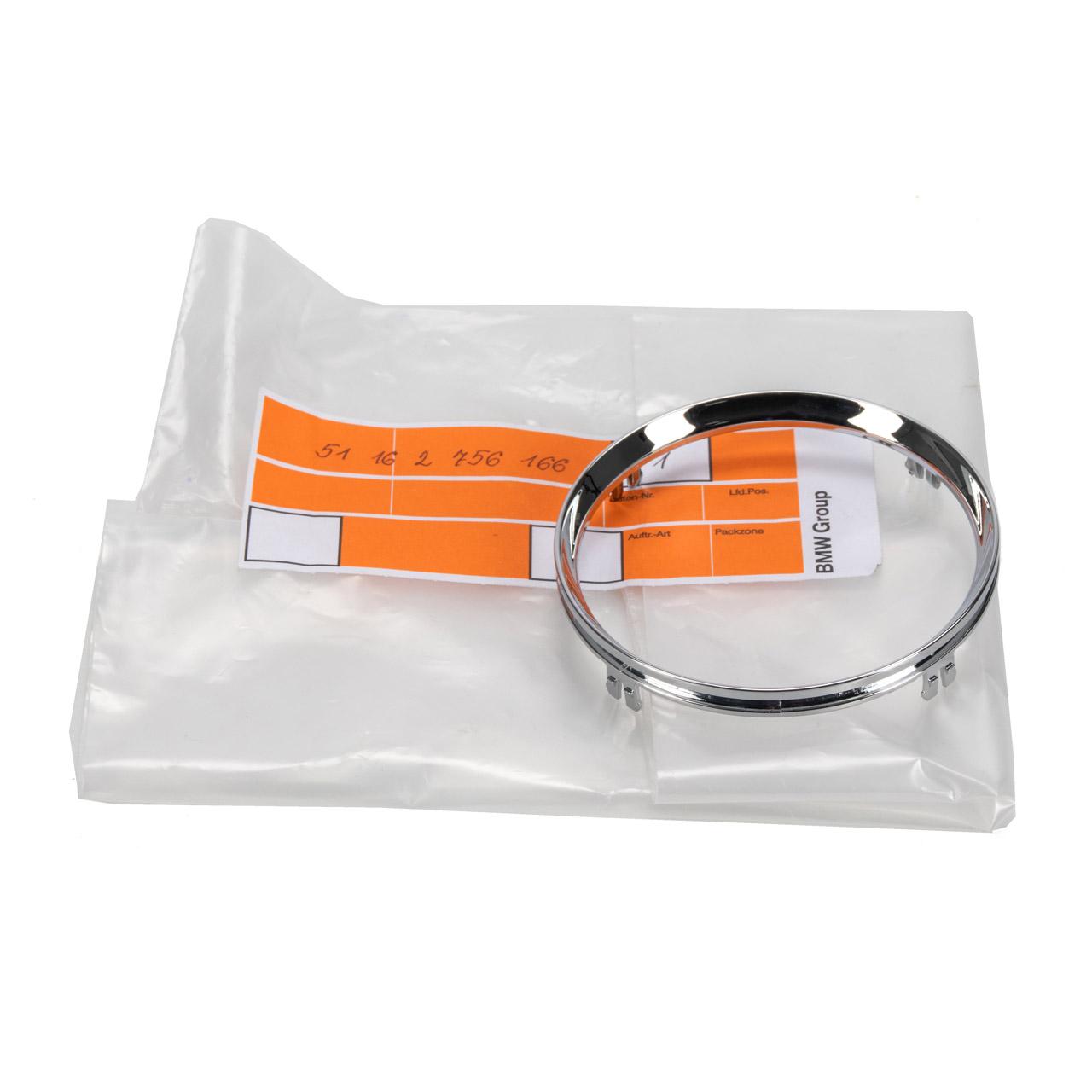 ORIGINAL MINI Zierring CHROM Becherhalter Getränkehalter R55-59 51162756166