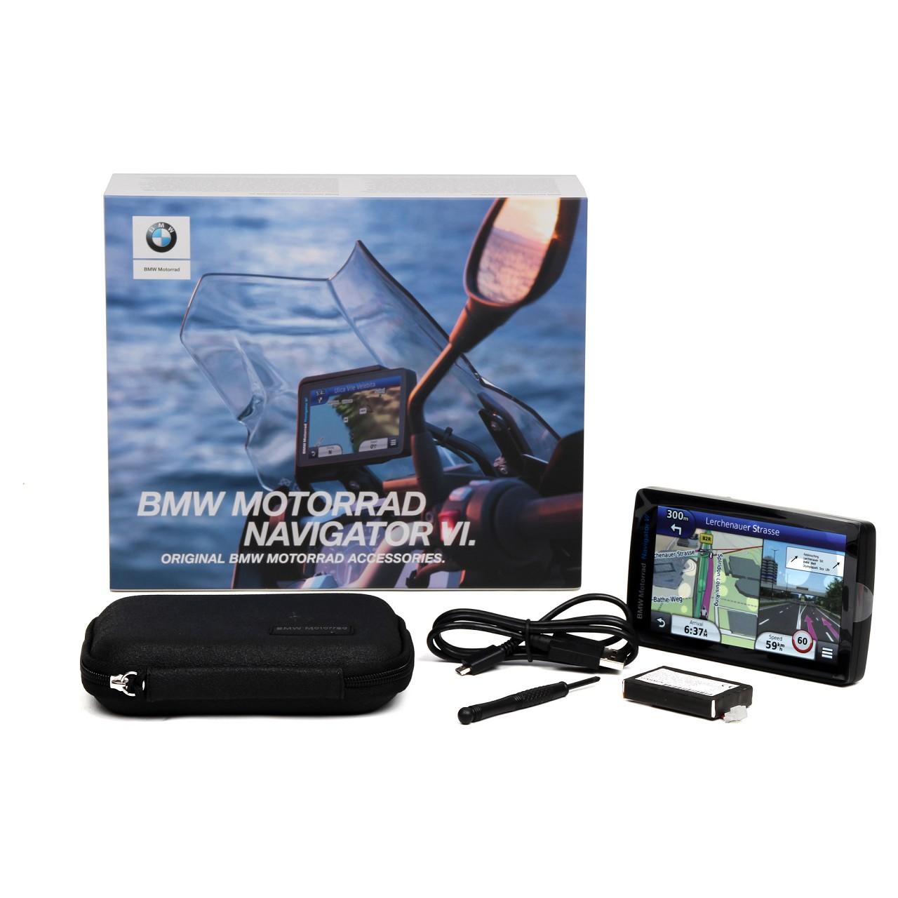 ORIGINAL BMW Navigator 6 VI Motorrad Navigationssystem Garmin Europa 77528355994