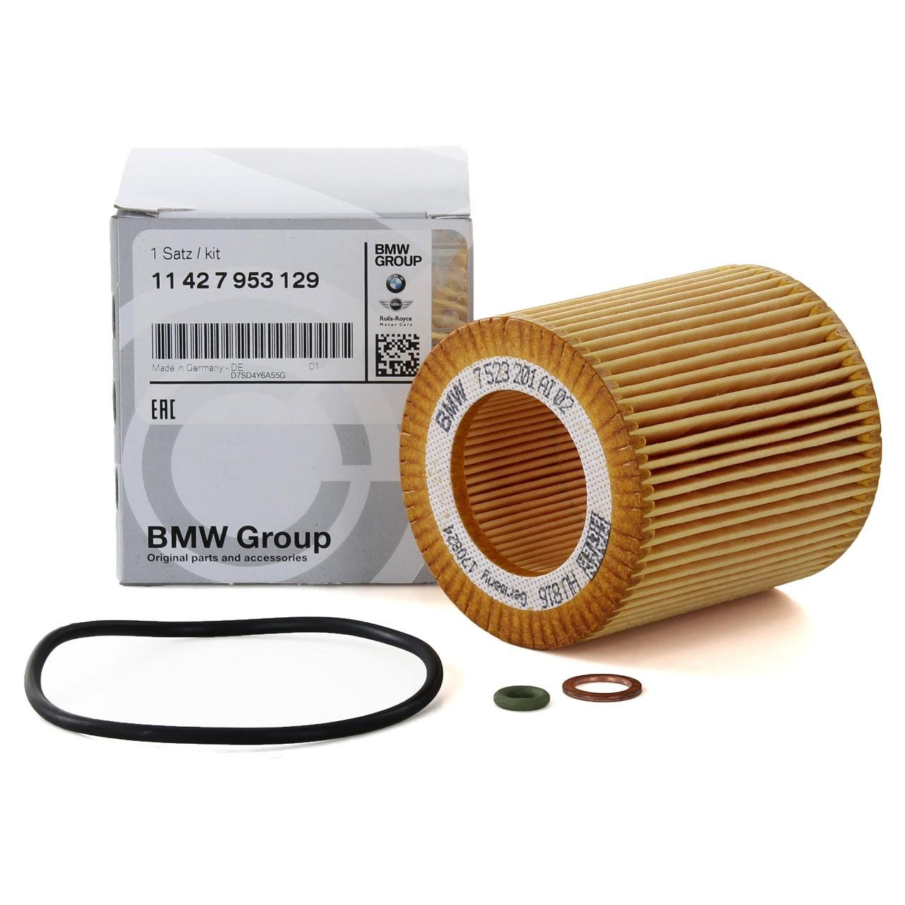 ORIGINAL BMW Ölfilter E81-88 F20/21 F22/23 E46 E90-93 F30-34 F32-36 11427953129