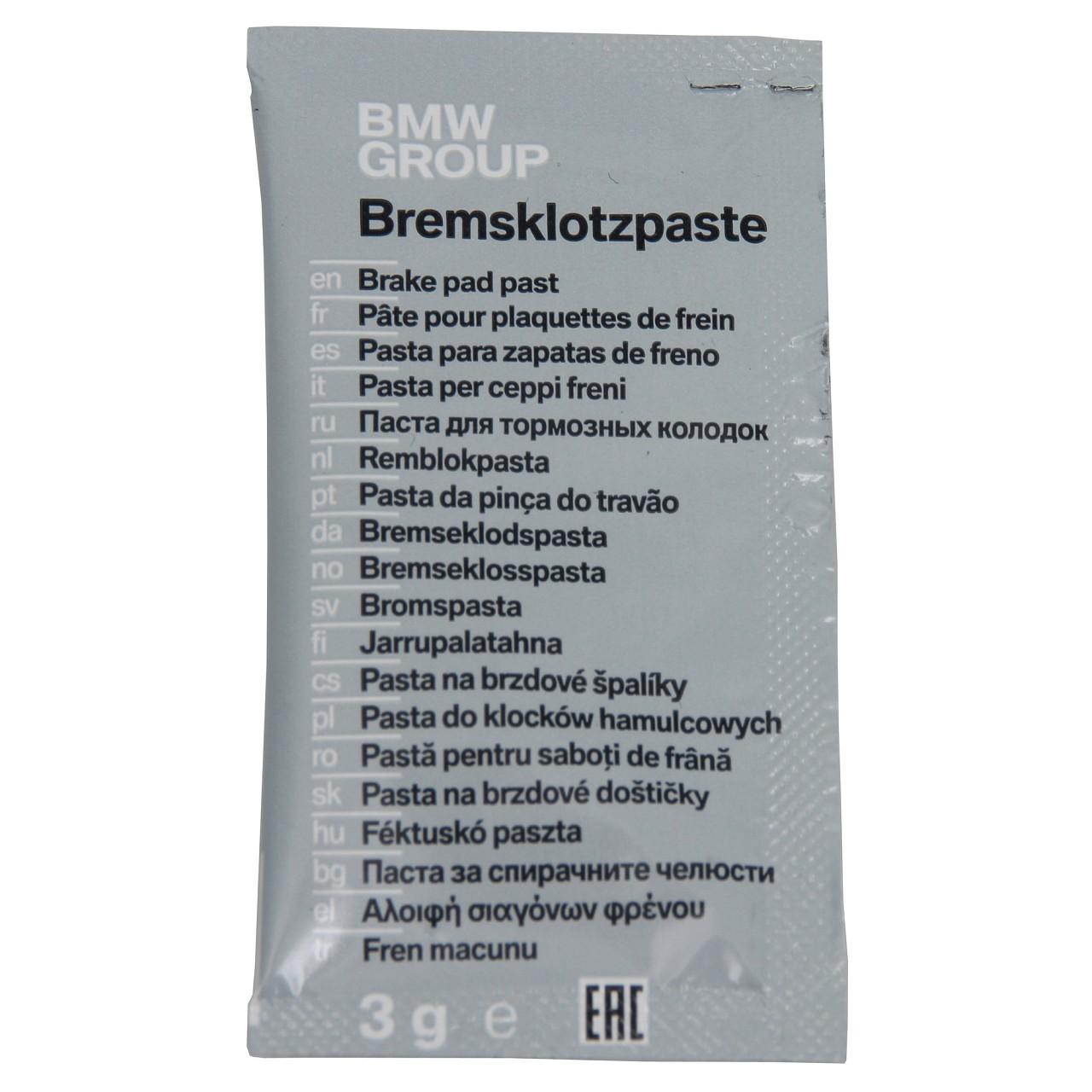 ORIGINAL BMW Montagepaste Bremspaste Bremsklotzpaste 83192158851 (1 Stück)
