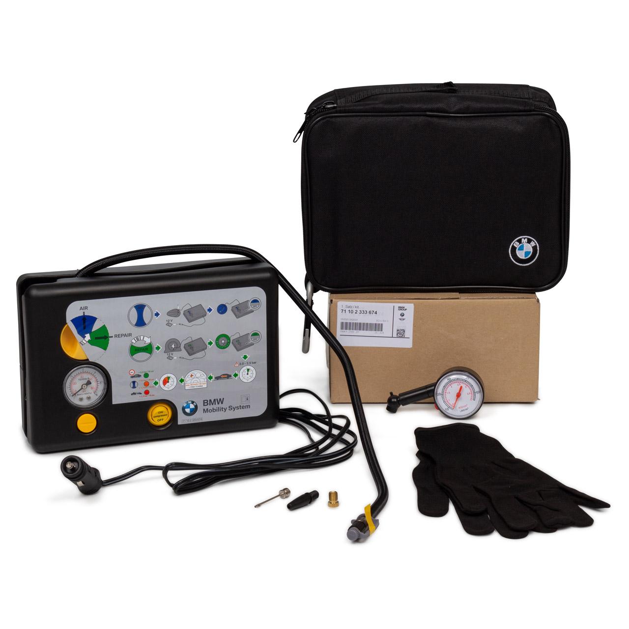 ORIGINAL BMW Reifen-Mobility-Set Reifen Pannenset Kompressor 71102333674
