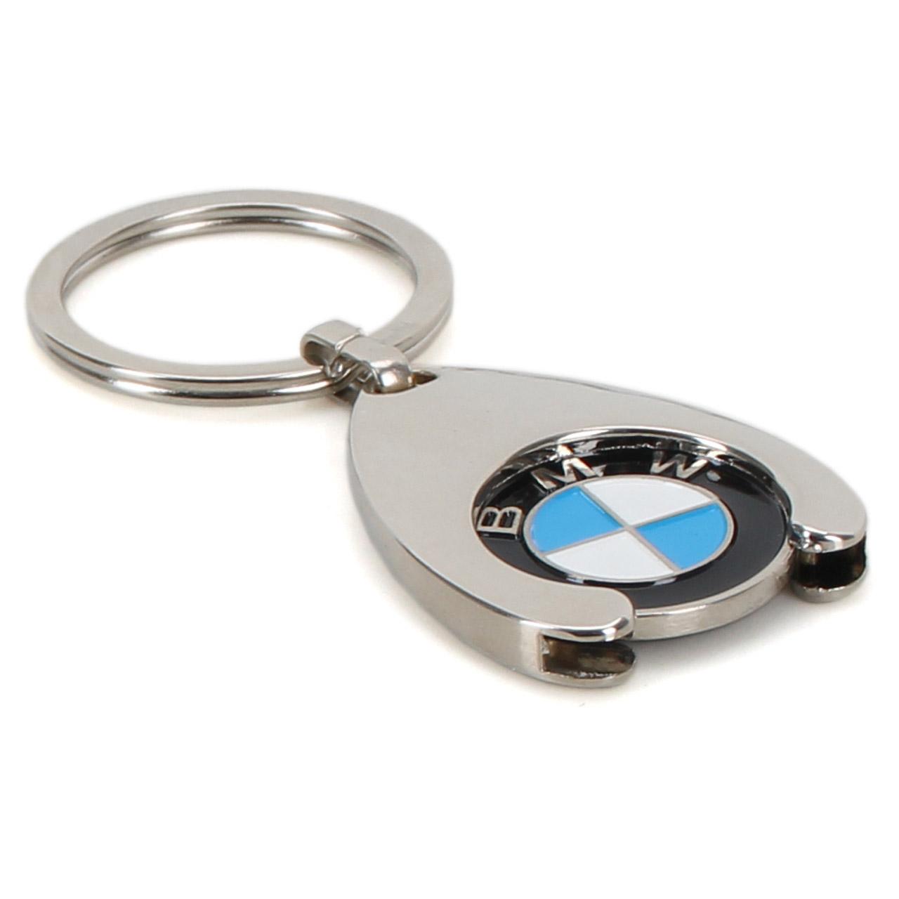 ORIGINAL BMW Schlüsselanhänger + Einkaufschip Chip Einkaufswagen 80272446749