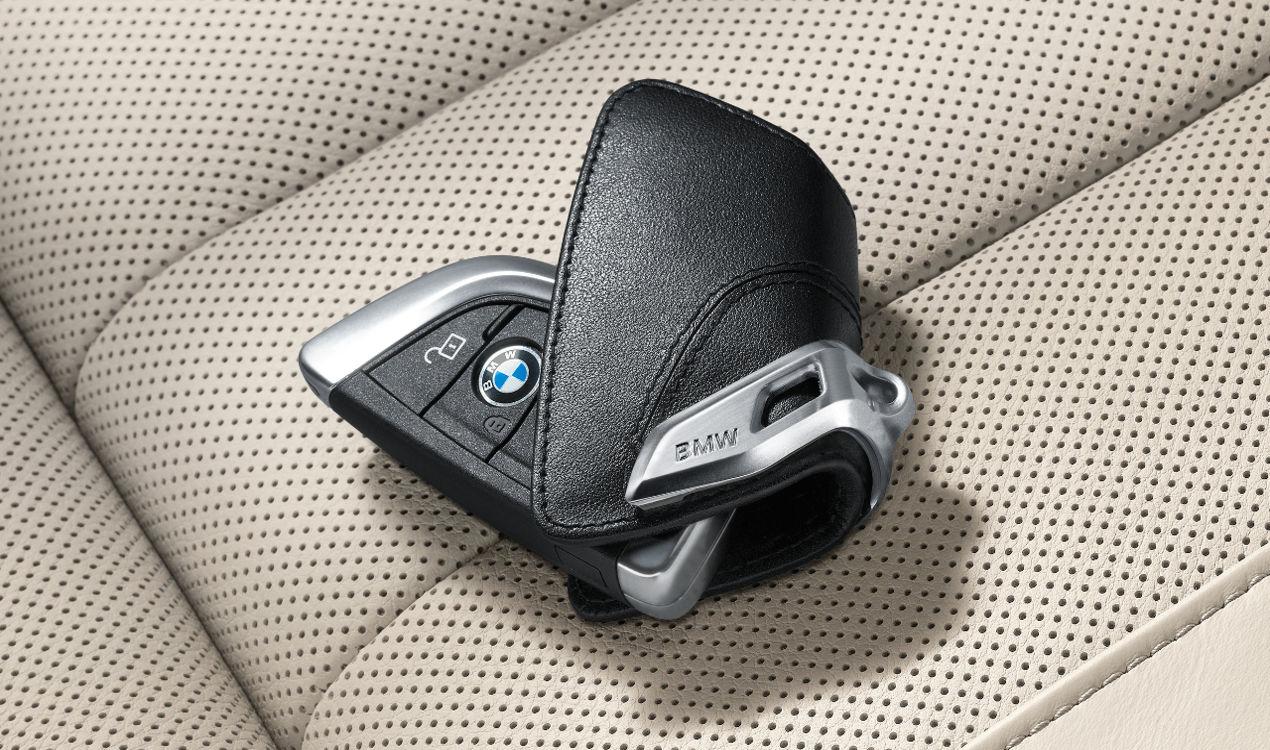 ORIGINAL BMW Schlüsseletui Schlüsseltasche Key-Bag Leder Schwarz 82292344033