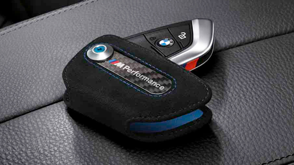 ORIGINAL BMW Schlüsseletui M Performance Alcantara / Carbon 82292355519