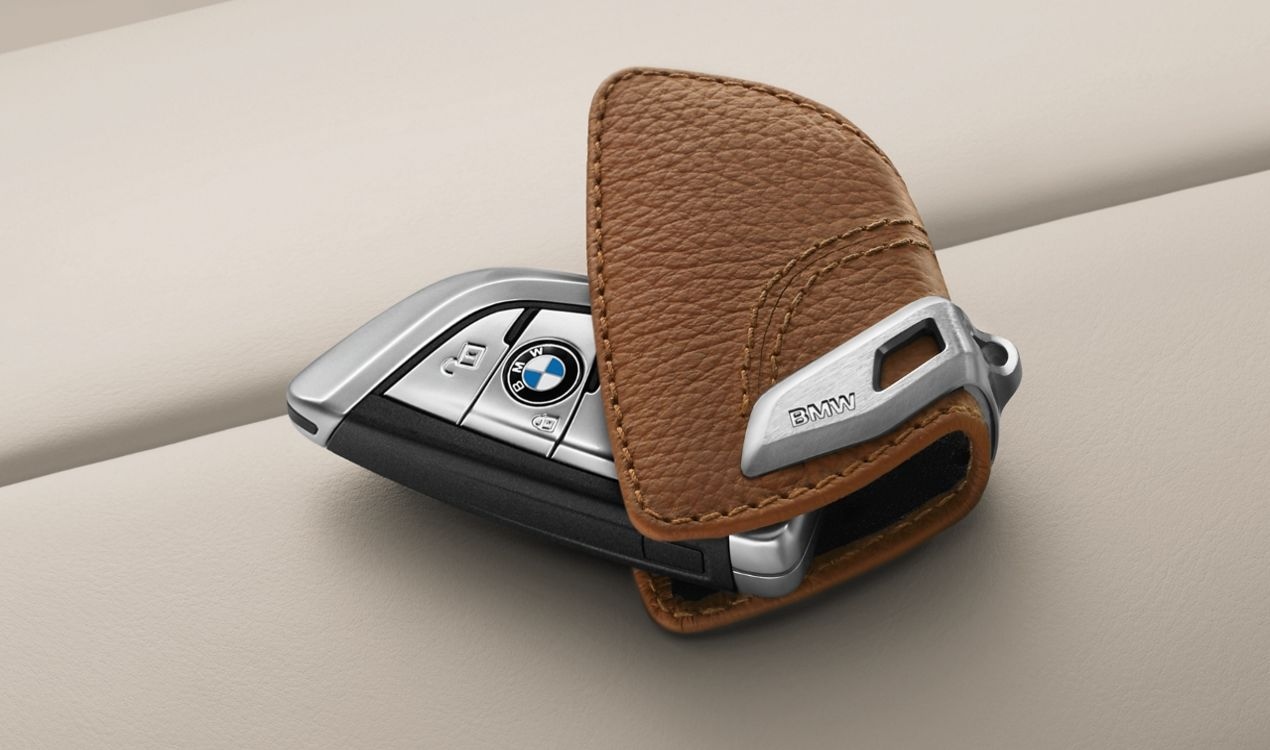 ORIGINAL BMW Schlüsseletui Schlüsseltasche Key-Bag Key-Case Braun Sattelbraun 82292408818