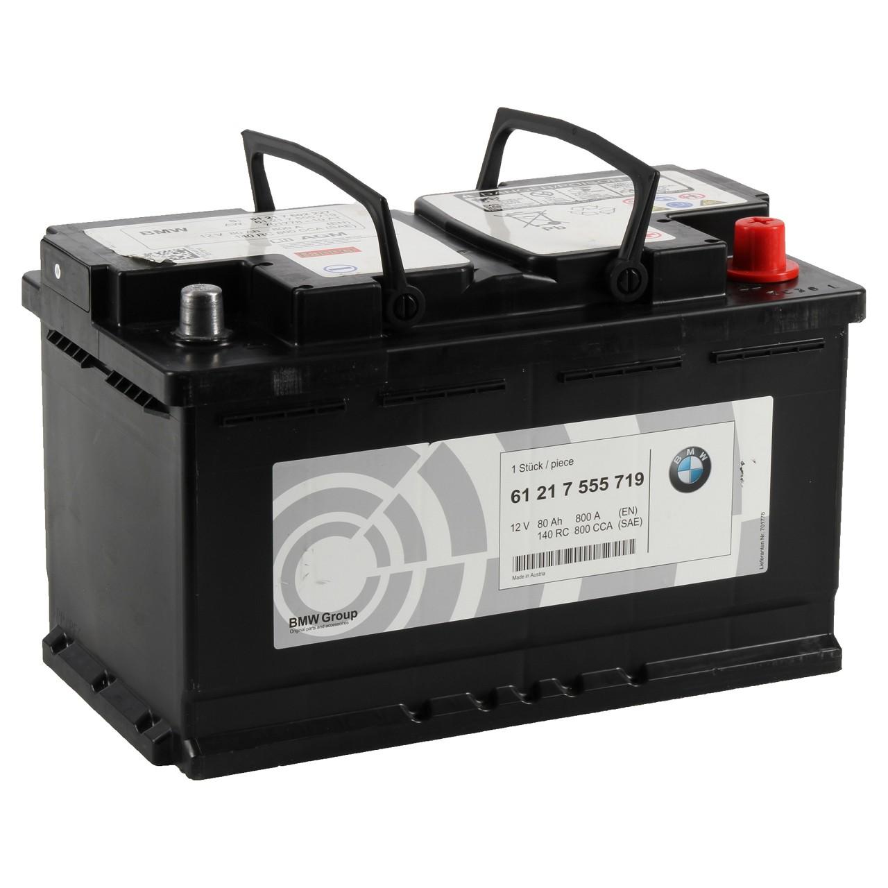 ORIGINAL BMW Autobatterie Batterie Starterbatterie 12V 80Ah 800A 61217555719