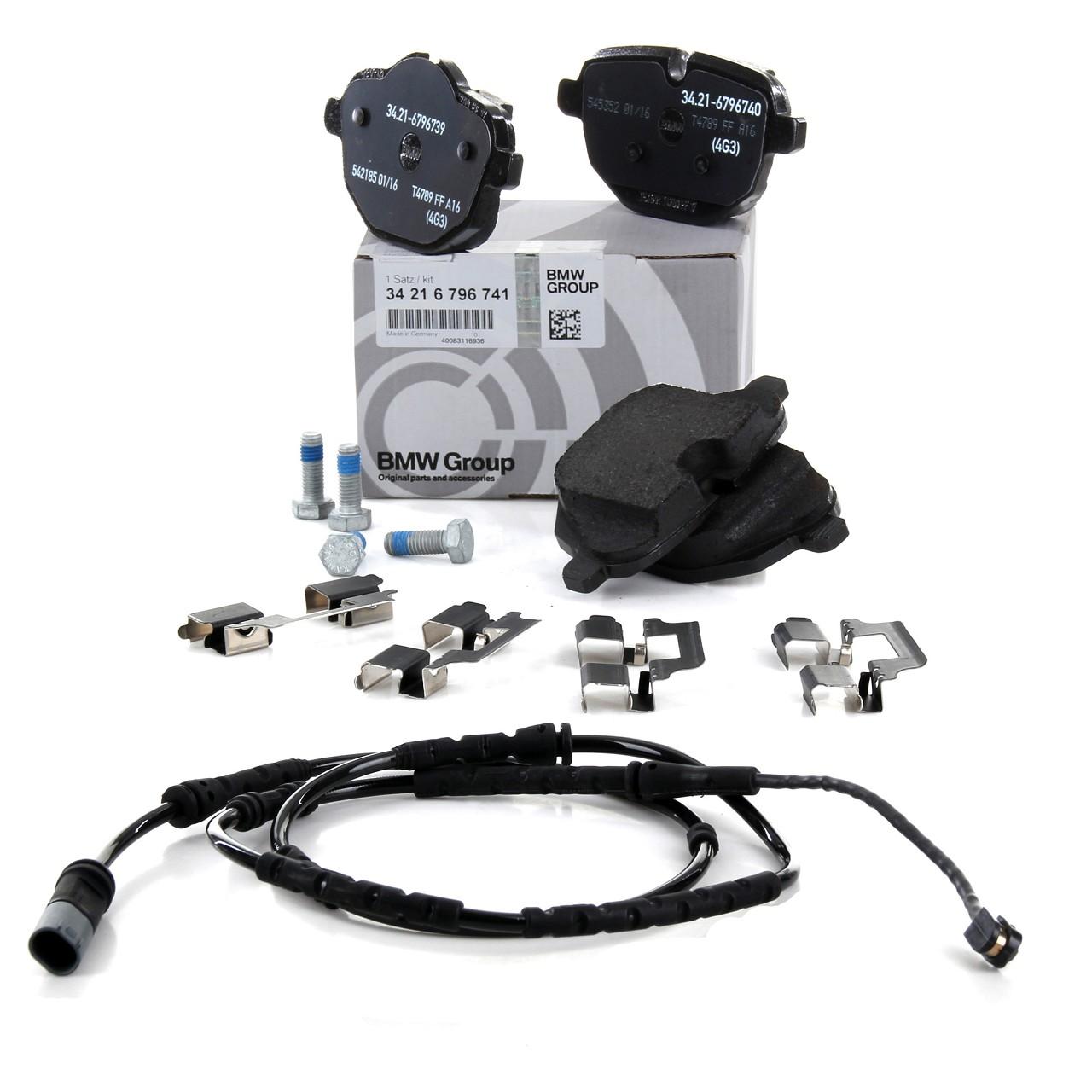 ORIGINAL BMW Bremsbeläge + Warnkontakt X3 F25 X4 F26 18-35i M40i 18-35d hinten