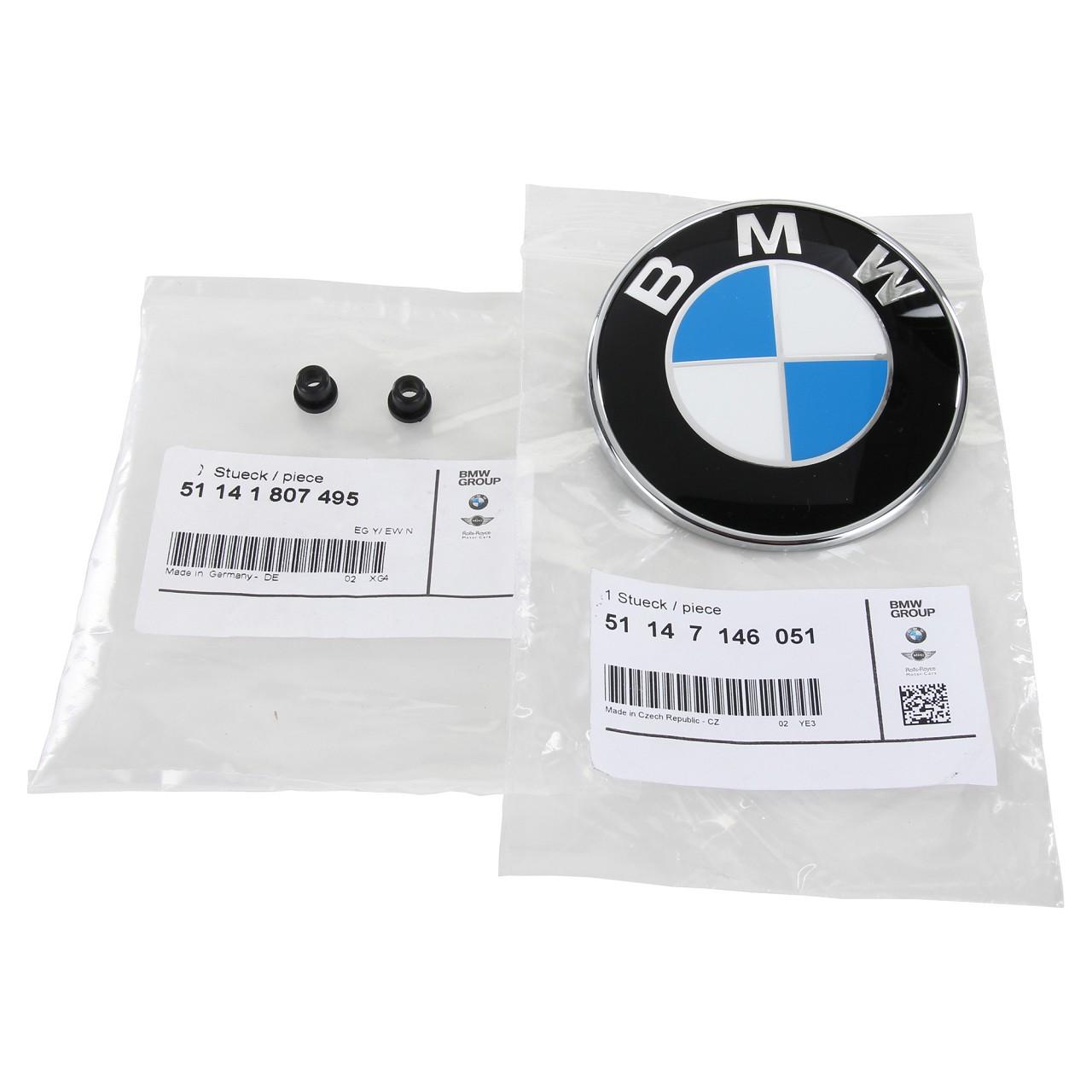 ORIGINAL BMW Emblem Plakette Heckklappe + 2x Tülle Befestigung für 3er COUPE E92