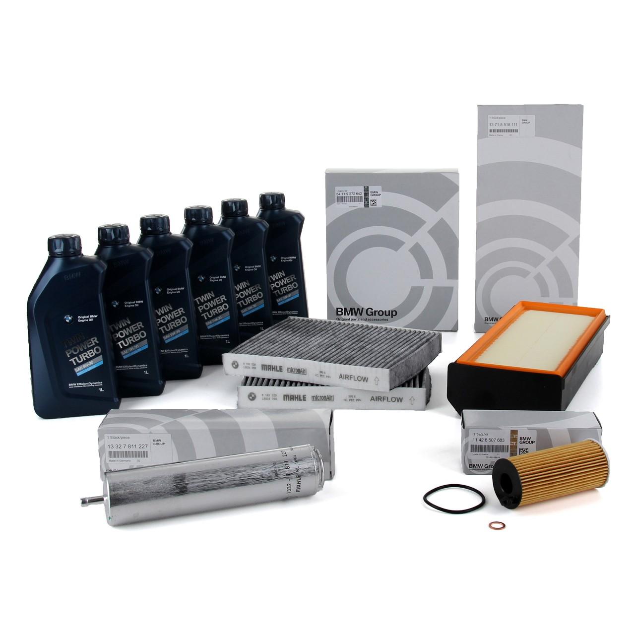 ORIGINAL BMW Inspektionskit + 6 L 5W30 Motoröl F10 F11 F07 530d F06 640d F01-04
