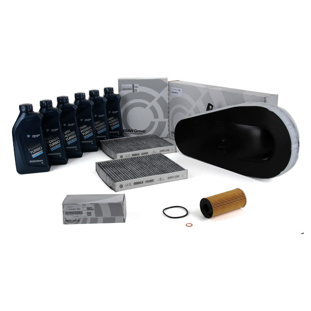 ORIGINAL BMW Inspektionskit + 6 L 5W30 Motoröl F10 F11 F07 518d 520d 525d 530d