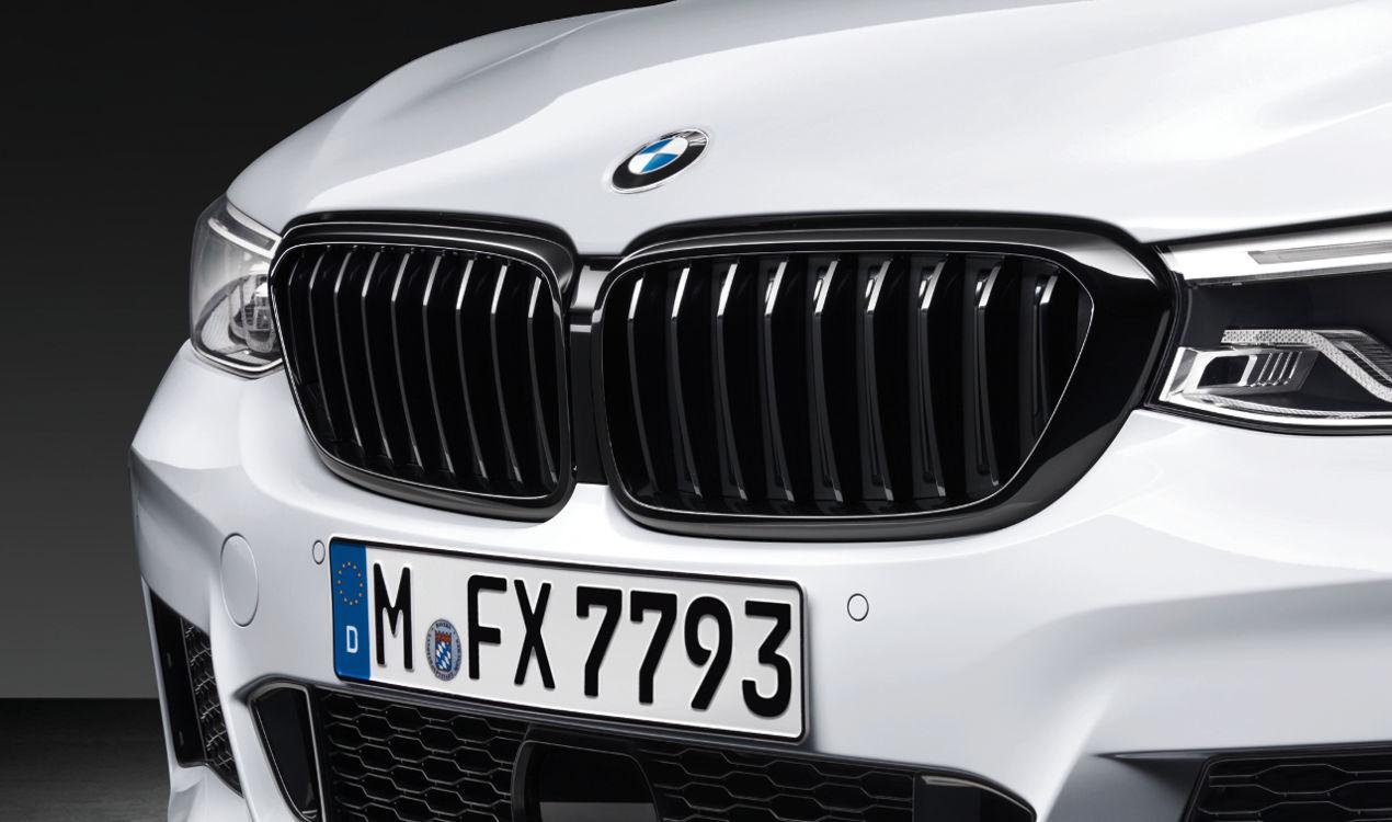 2x ORIGINAL BMW M Performance Kühlergrill Niere SCHWARZ 6er G32 links + rechts