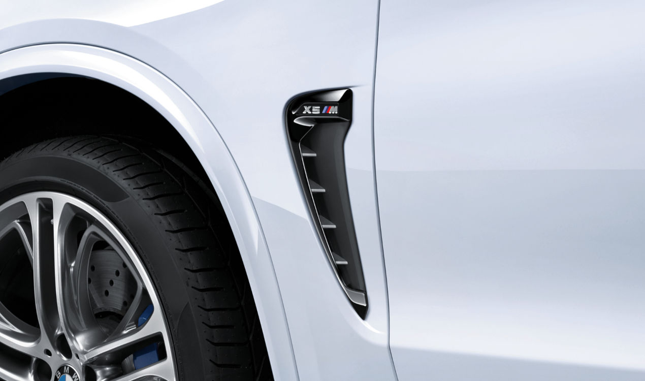 2x ORIGINAL BMW M Performance Air Breather Schwarz Hochglanz X5M F85 links + rechts