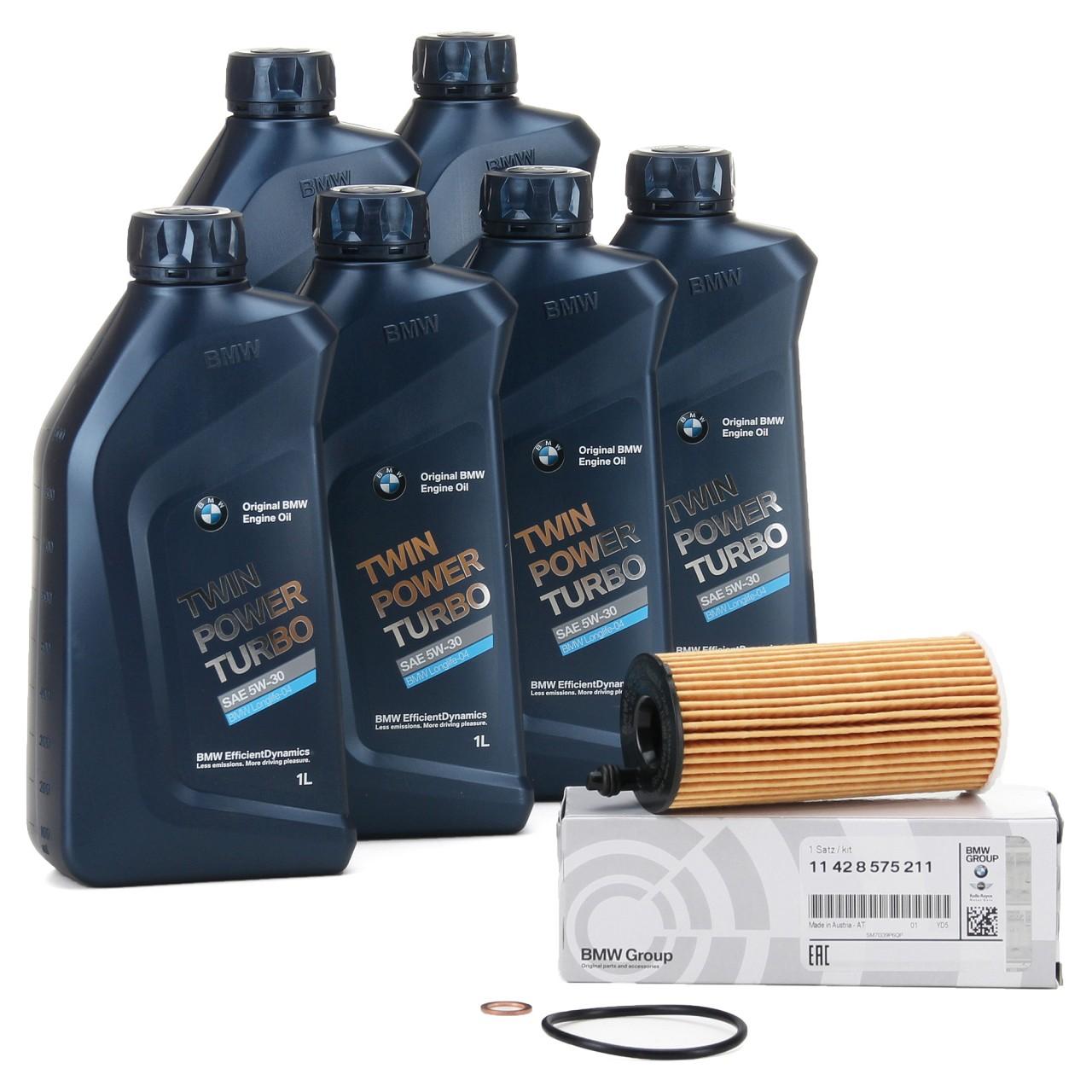 ORIGINAL BMW Motoröl Öl 5W30 LongLife-04 6 Liter + Ölfilter 11428575211