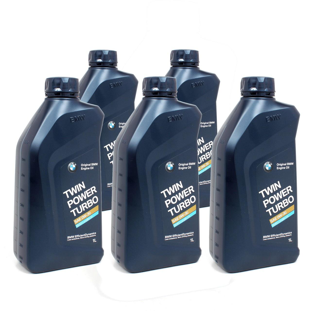 ORIGINAL BMW Motoröl Öl 0W30 Twin Power Turbo LongLife-04 5 Liter 83212465854
