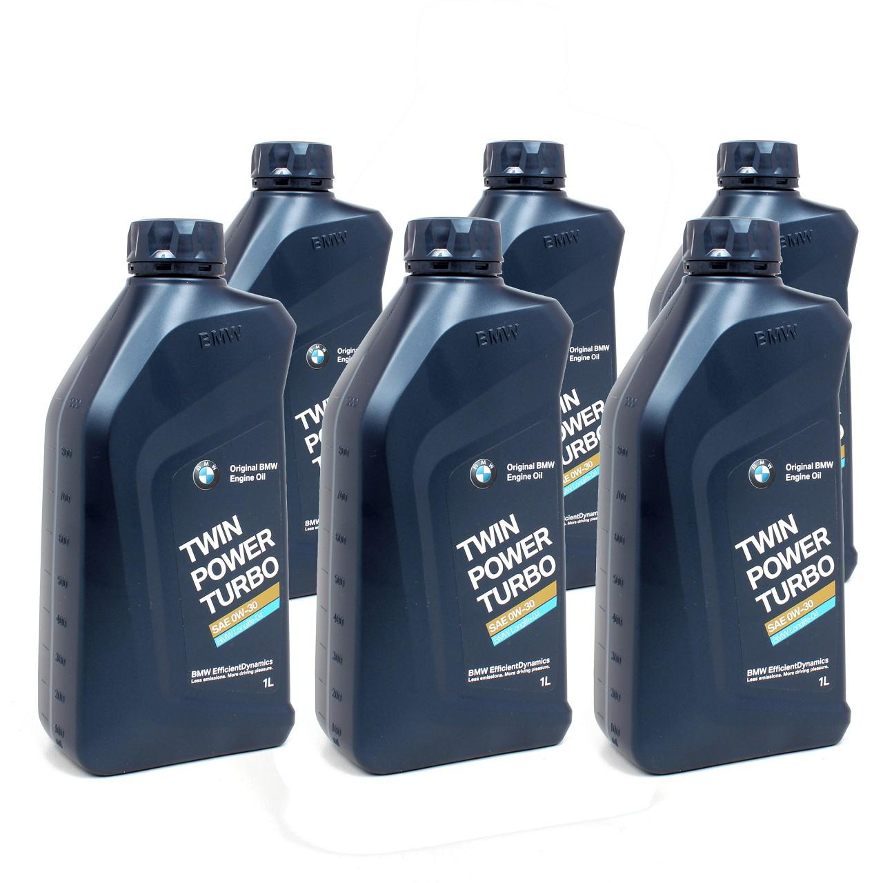 ORIGINAL BMW Motoröl Öl 0W30 Twin Power Turbo LongLife-04 6 Liter 83212465854