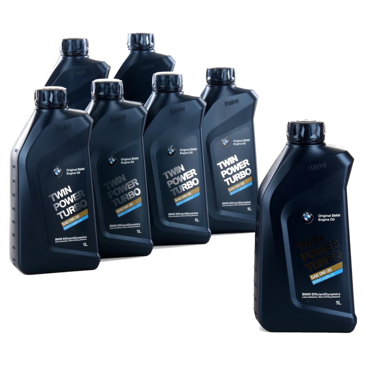 7x1 Liter ORIGINAL BMW Motoröl 0W30 Twin Power Turbo LongLife-04 83212465854