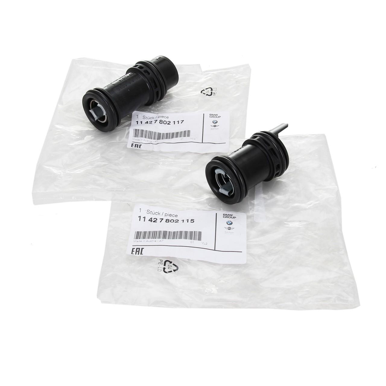 ORIGINAL BMW Rohrstutzen Ölkühler 11427802115 + 11427802117 1er 3er 5er X1 X3 X5
