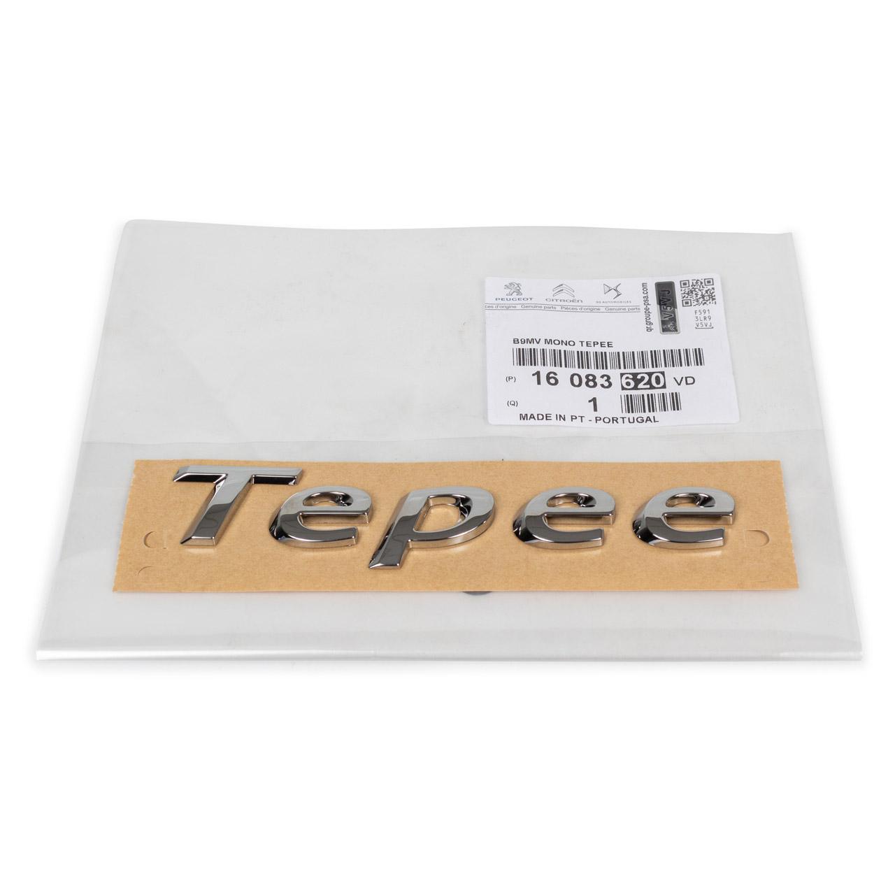 ORIGINAL Peugeot Emblem Schriftzug Fahrzeugheckklappe Partner Tepee 16083620VD