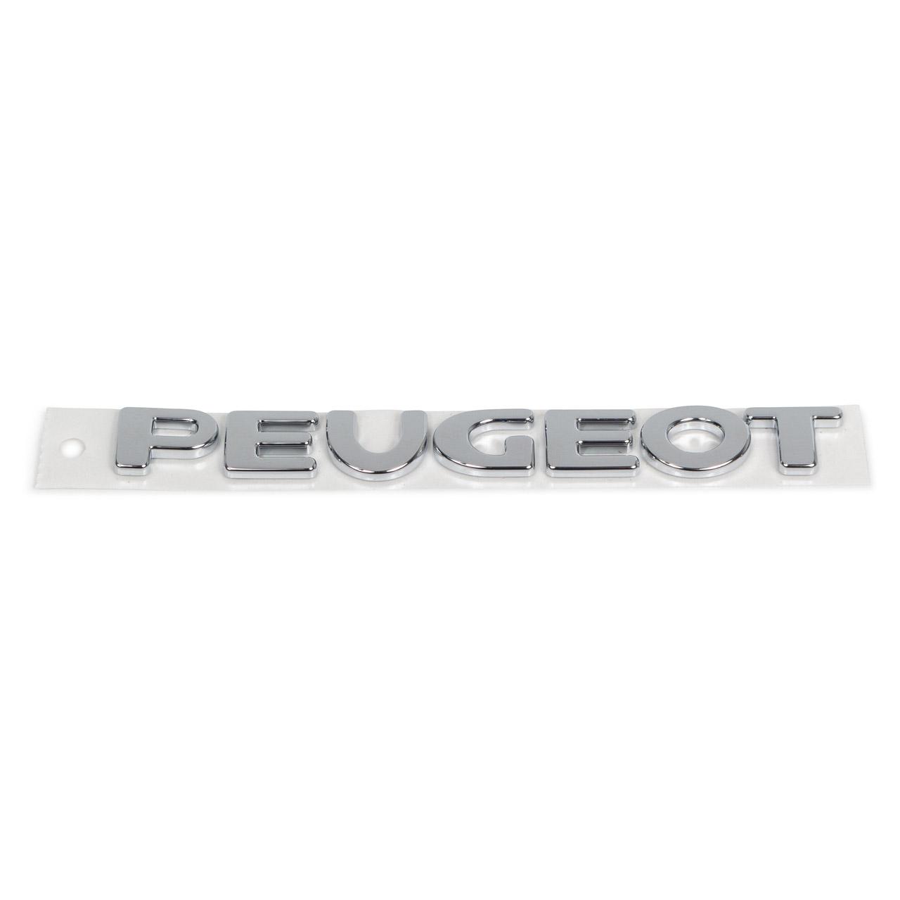 ORIGINAL Peugeot Emblem Plakette Schriftzug Heckklappe 107 hinten 8665.NN