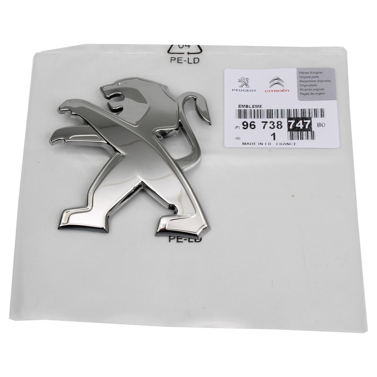 ORIGINAL Peugeot Emblem Logo Plakette Motorhaube 9673874780 für 208