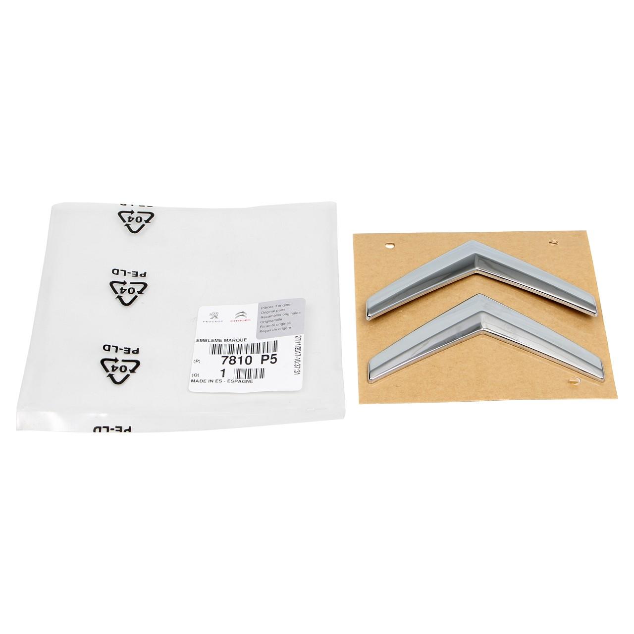 ORIGINAL Citroen Emblem Logo Plakette Heckklappe 7810.P5 für C3 I (FC_)