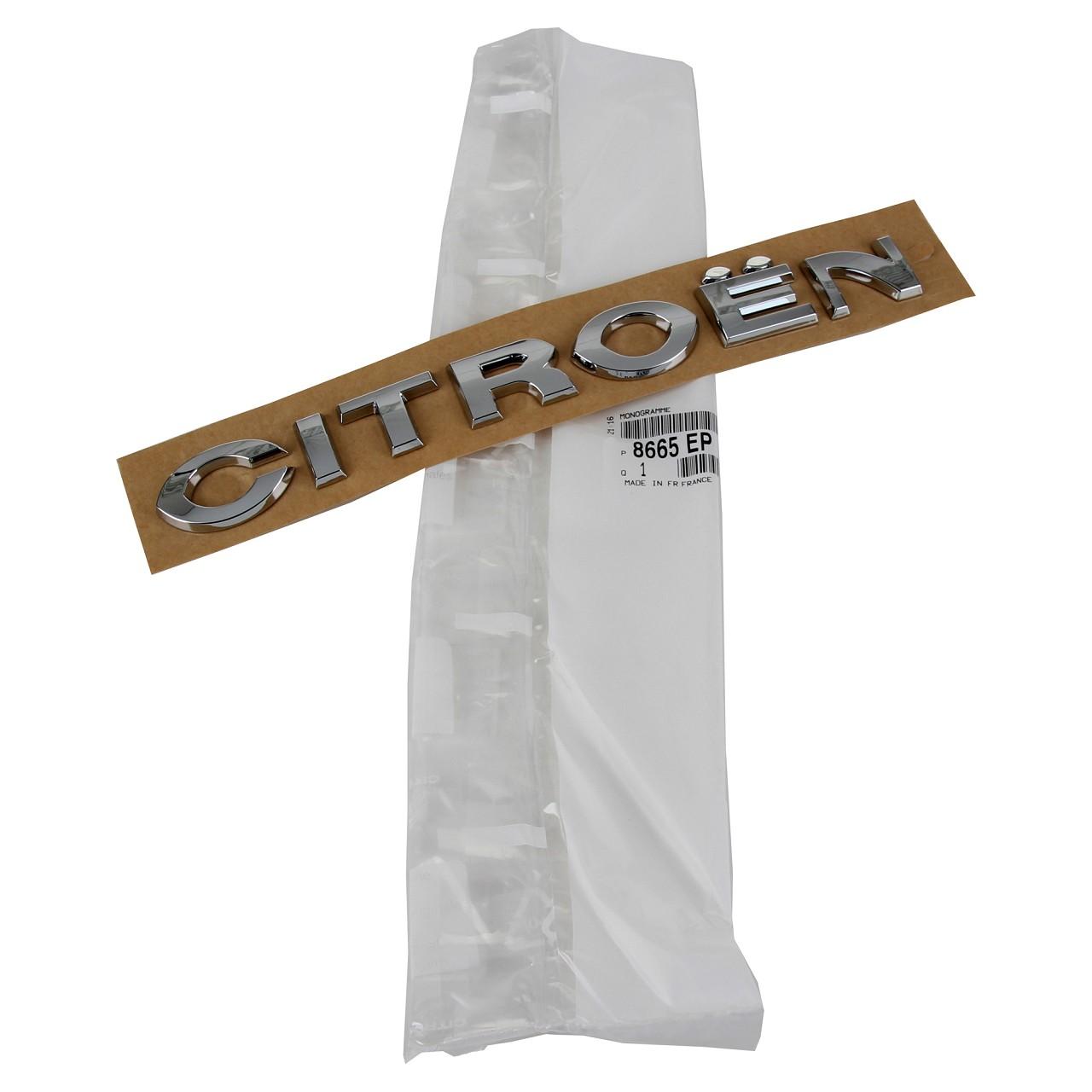 ORIGINAL Citroen Emblem Logo Schriftzug Heckklappe LINKS 8665.EP für C4 I