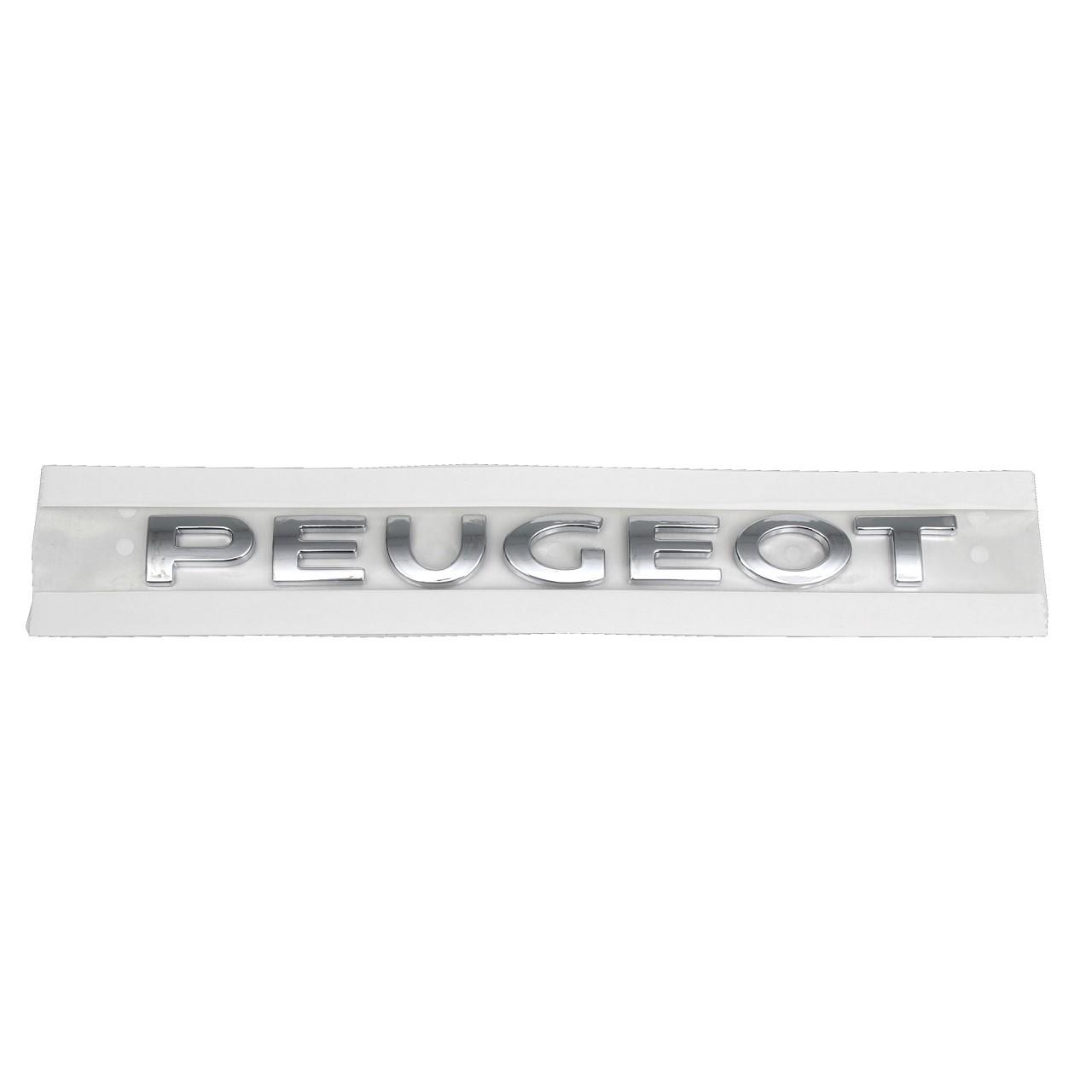 ORIGINAL Peugeot Emblem Logo Plakette CHROM 308 / 308 CC links 8665.VF