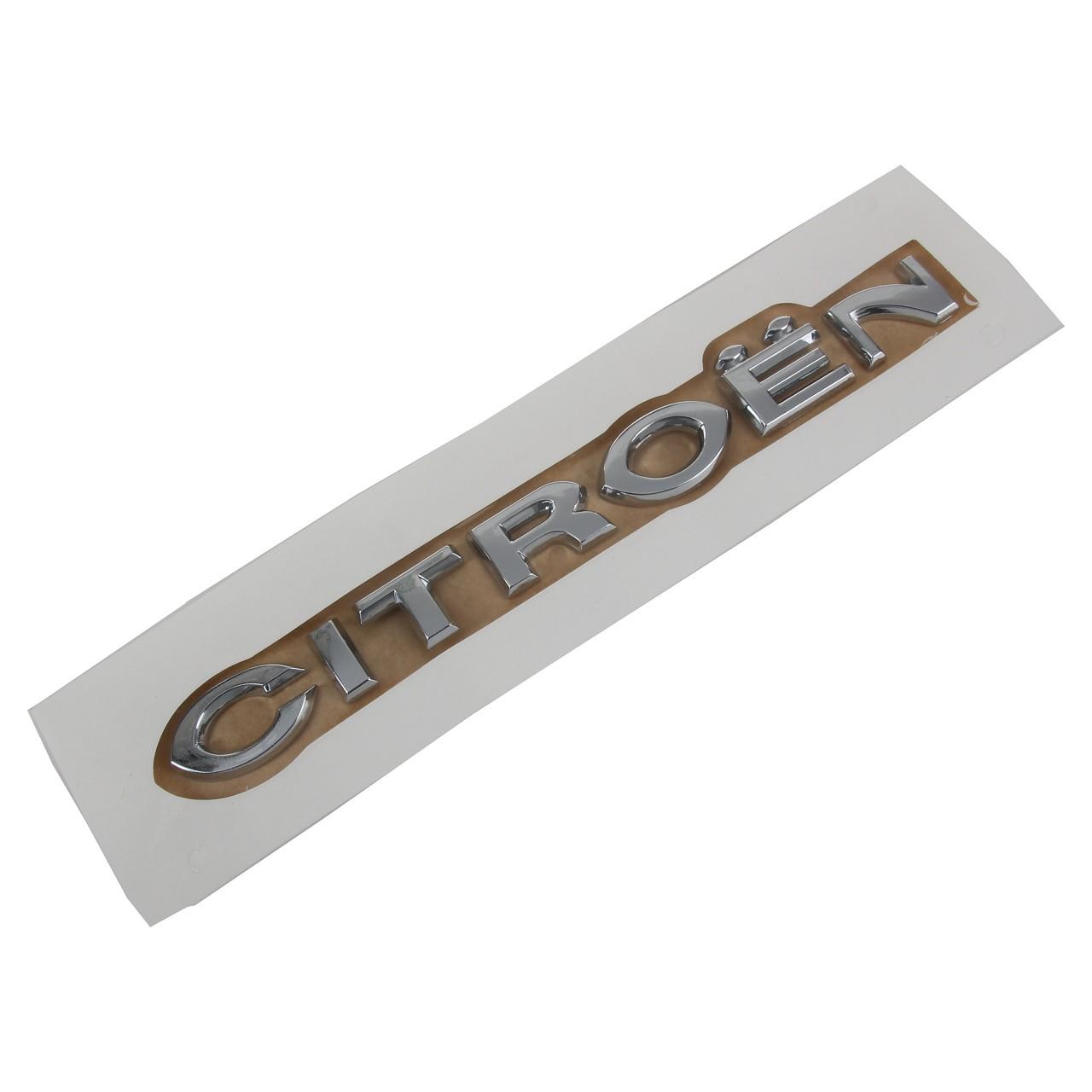 ORIGINAL Citroen Emblem Logo Schriftzug Heckklappe LINKS 8665.Y3 für C3 I (FC_)