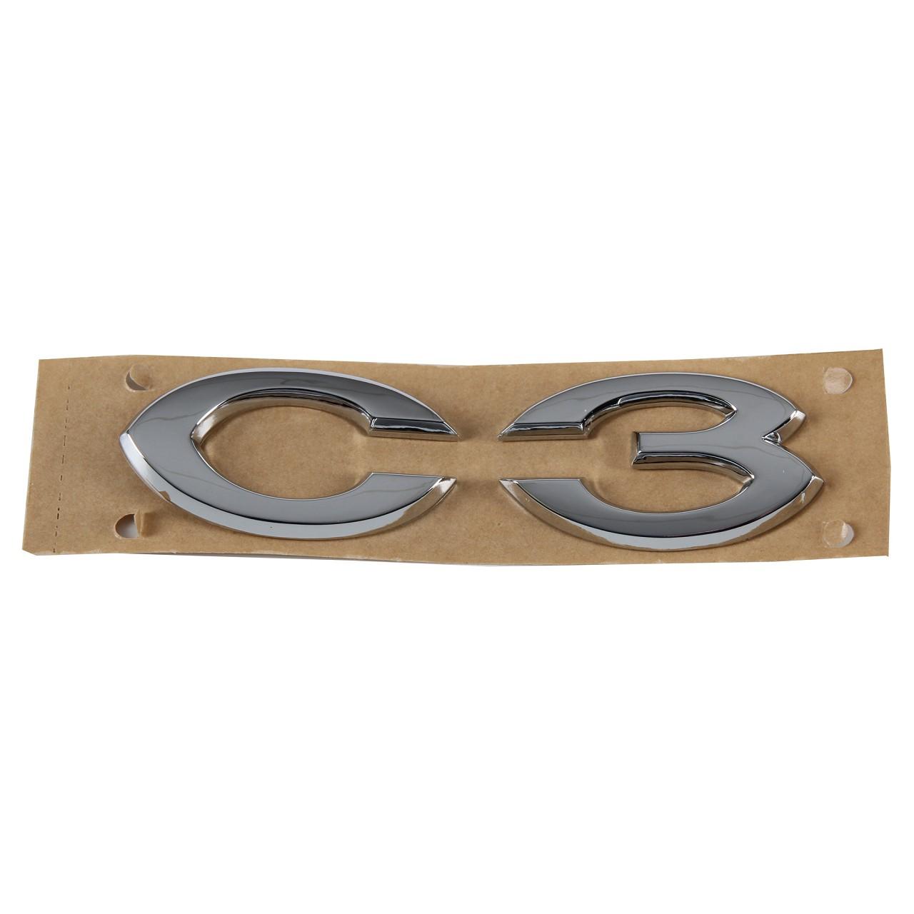 ORIGINAL Citroen Emblem Logo Schriftzug Heckklappe CHROM 8665.Y4 für C3 I (FC_)