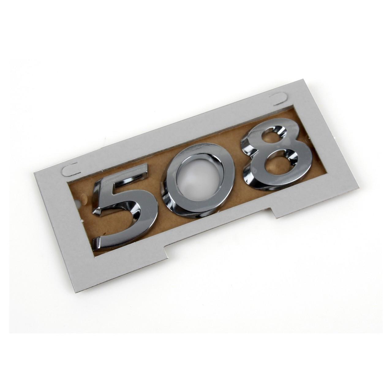 ORIGINAL Peugeot Emblem Plakette Schriftzug Heckklappe CHROM 8666.CY für 508
